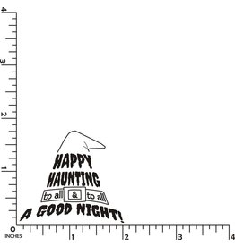 DRS Designs Happy Haunting Hat Cling Stamp