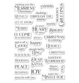 Poppystamps, Inc. Christmas Greetings Clear Stamp Set