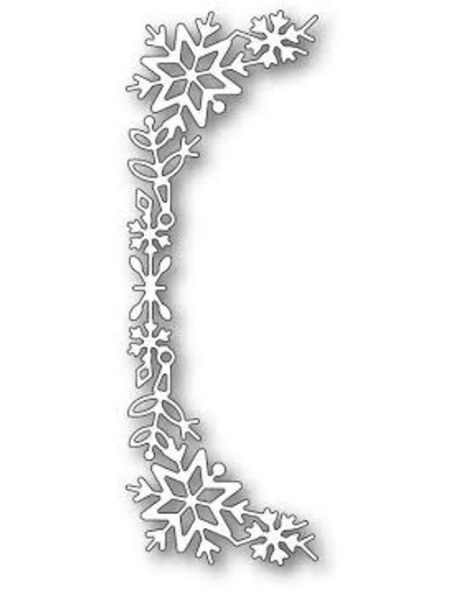 Poppystamps, Inc. Snowflake Tall Curve Border die