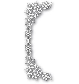 Poppystamps, Inc. Snowflake Tall Curve Border die