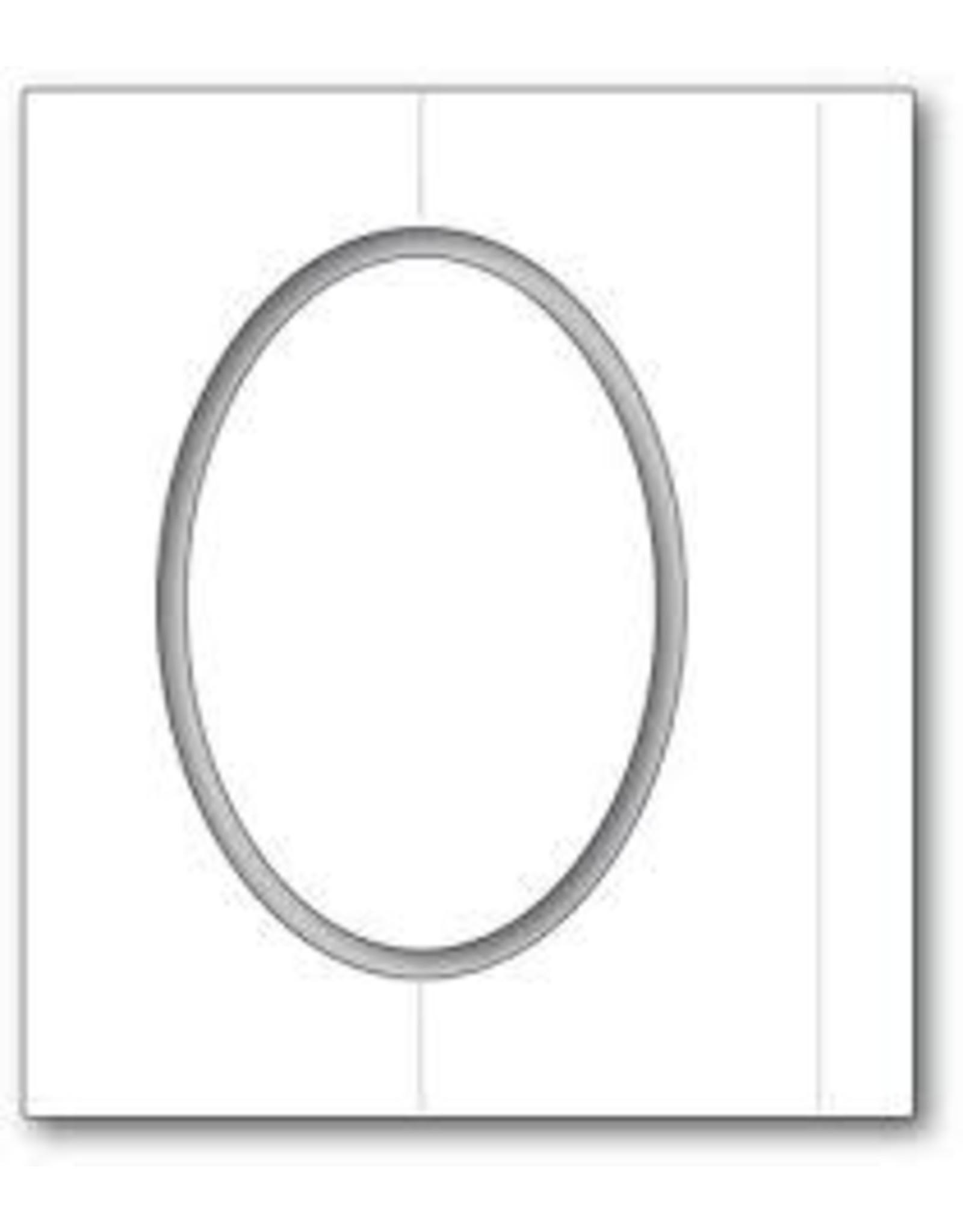 Poppystamps, Inc. Oval Fold Frame Die Set
