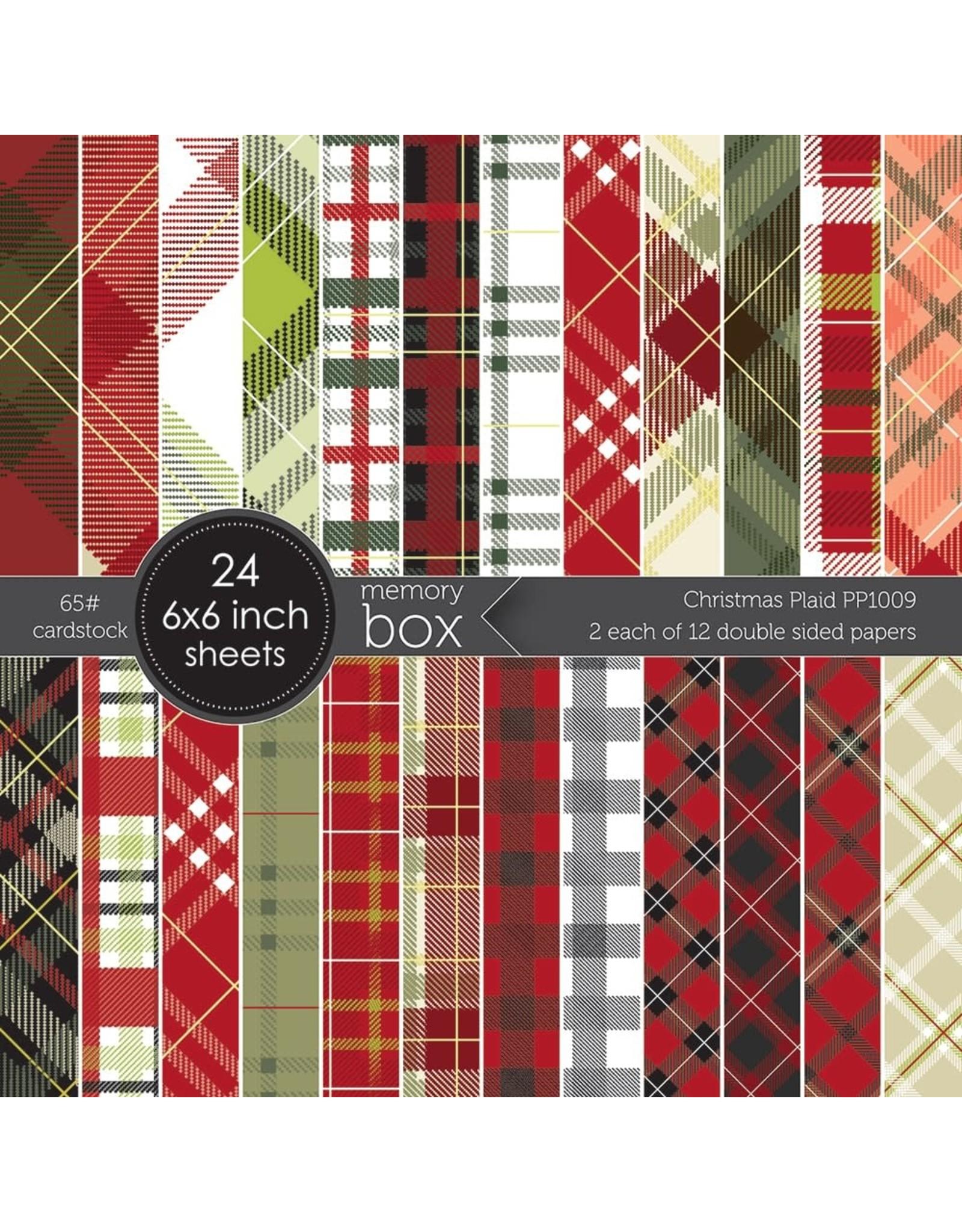Memory Box Christmas Plaid 6x6 Paper Pad