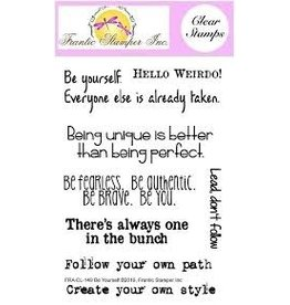 Frantic Stamper Inc Be Yourself Clear Stamp Set