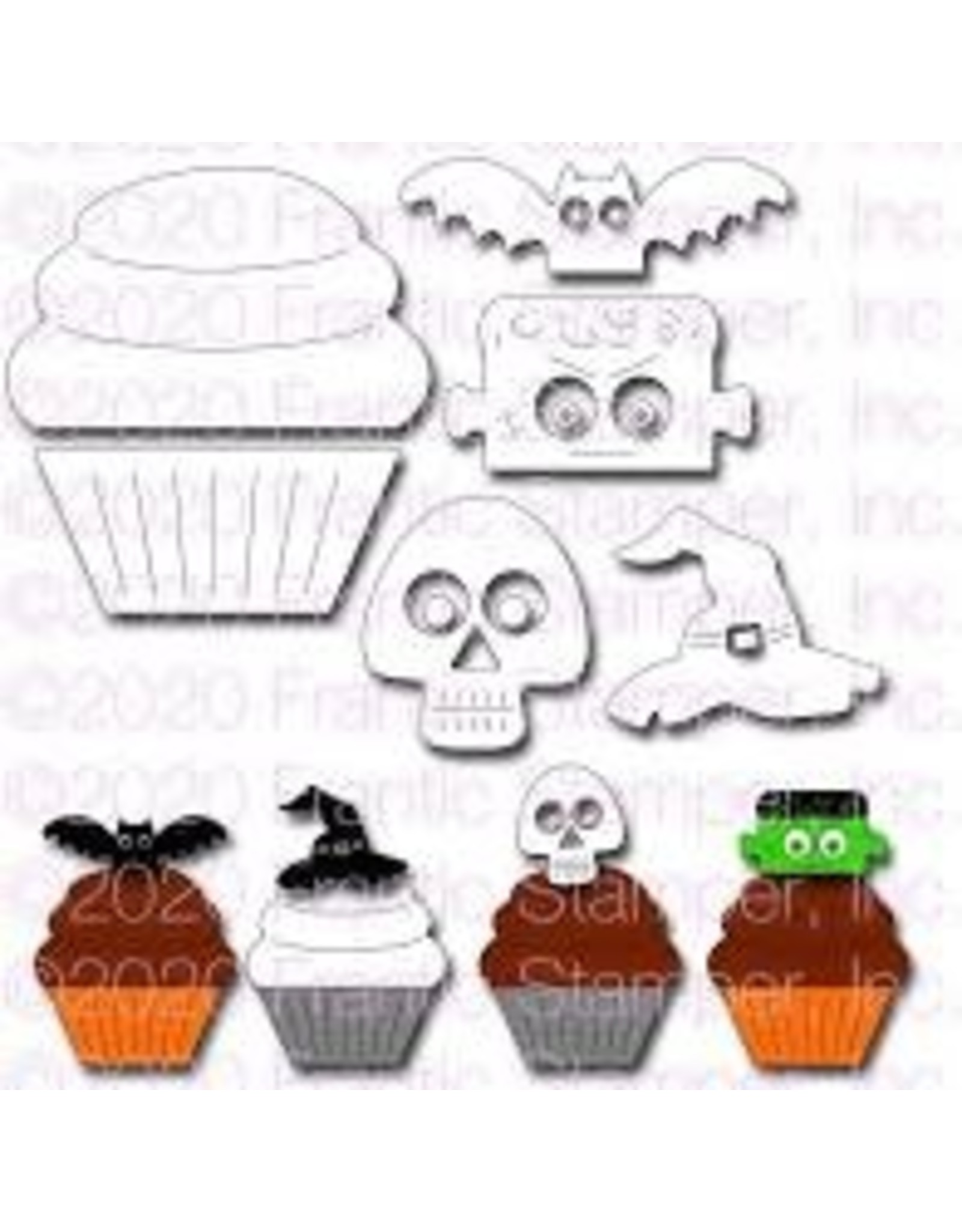 Frantic Stamper Inc Cupcake & Halloween Toppers #1