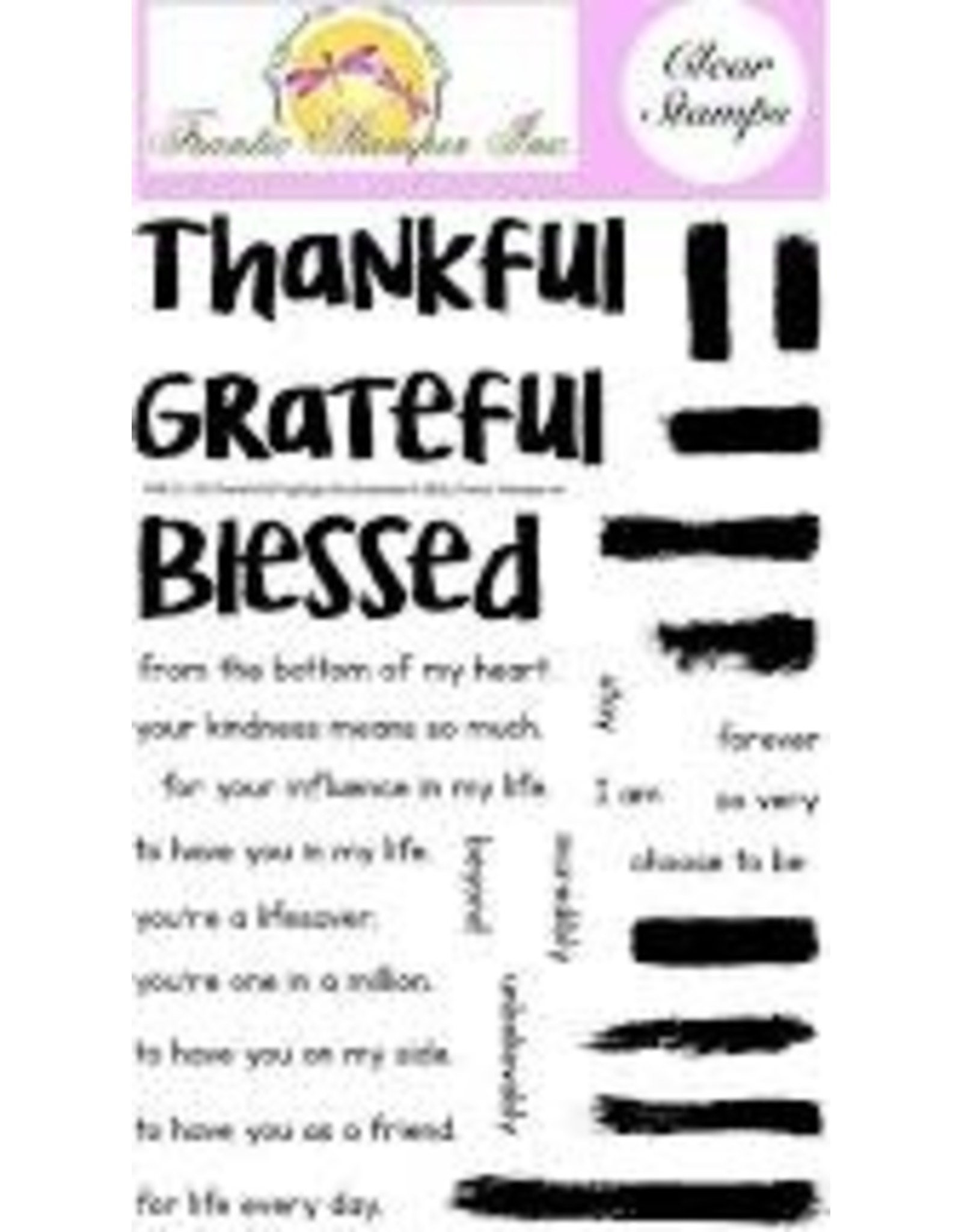 Frantic Stamper Inc Thankful & Highlight Brushstrokes Clear Stamp Set