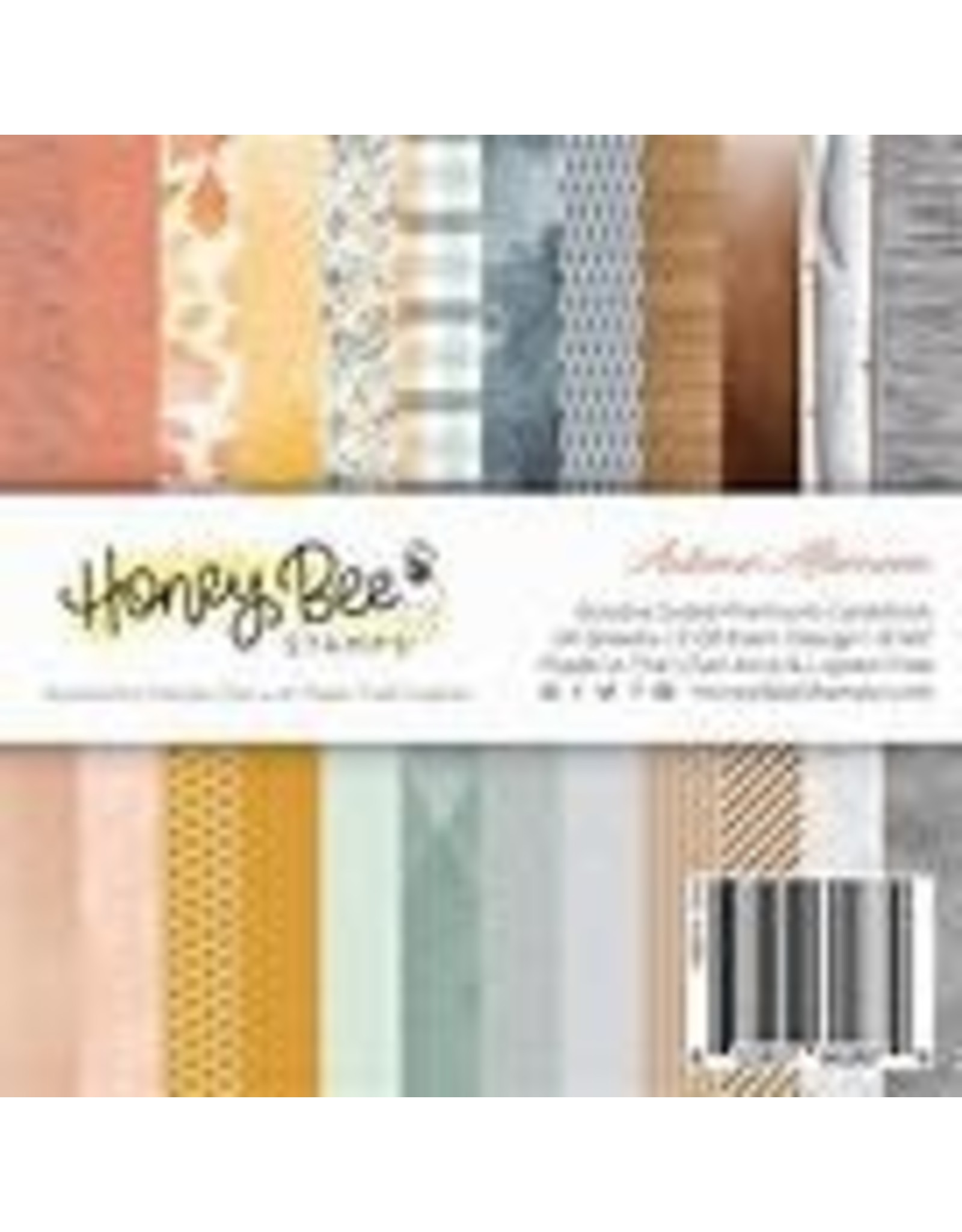 Honey Bee Stamps Autumn Afternoon 6x6 Pad Double  Sided