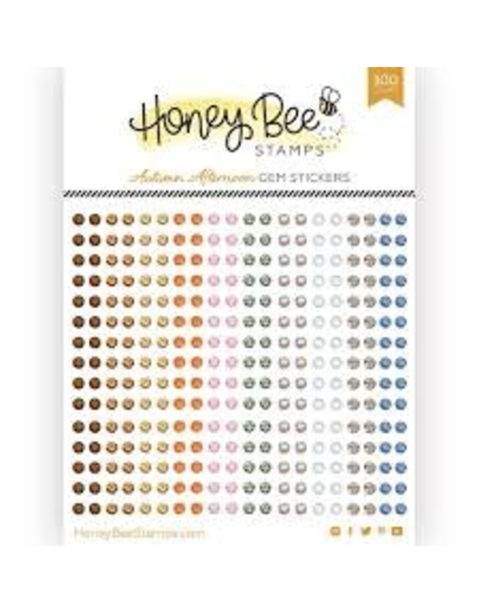 Honey Bee Stamps Gem Stickers - Autumn Afternoon