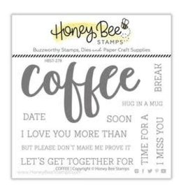 Honey Bee Stamps Coffee Clear Stamp Set