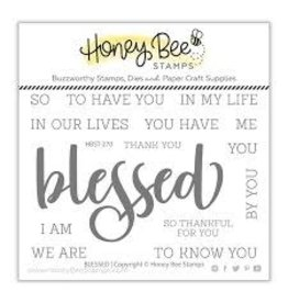 Honey Bee Stamps Blessed Clear Stamp Set