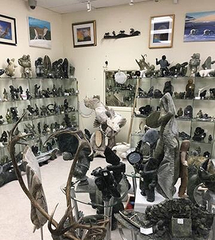 For those who may not have seen the inside of the Carvings Nunavut