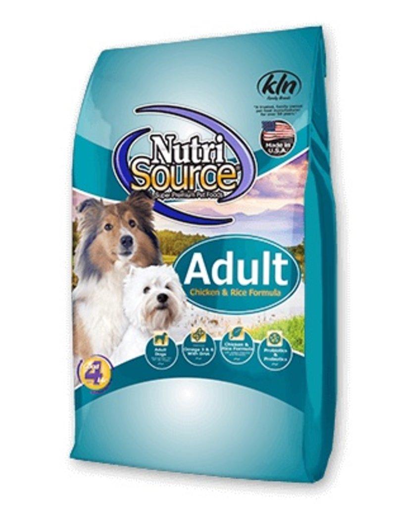 Nutri-Source NS chien adulte poulet & riz, 30 lbs