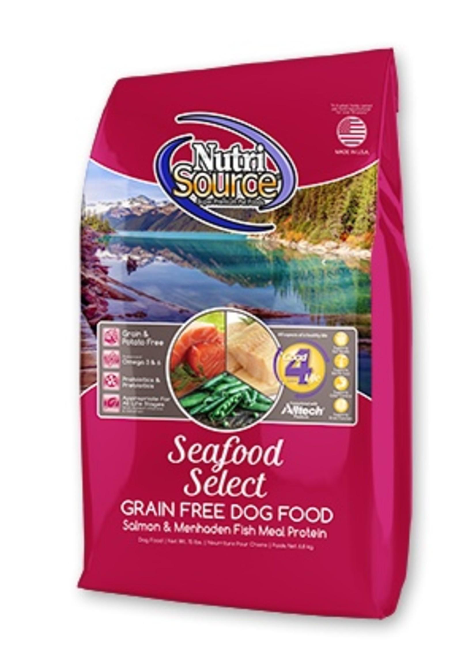 NutriSource NS seafood, Sans grain, 13.6 kg