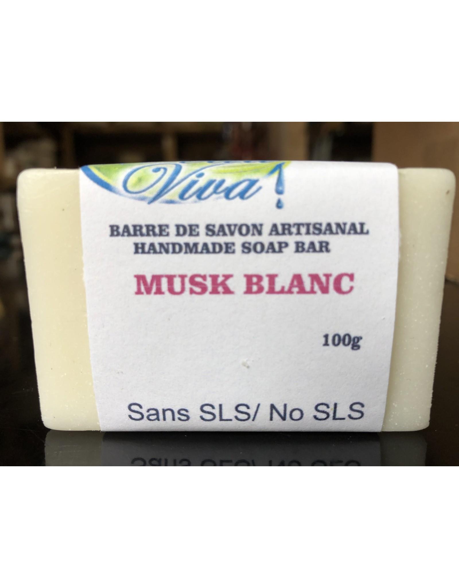 Bieau Viva Savon en barre, Musk blanc, 100g
