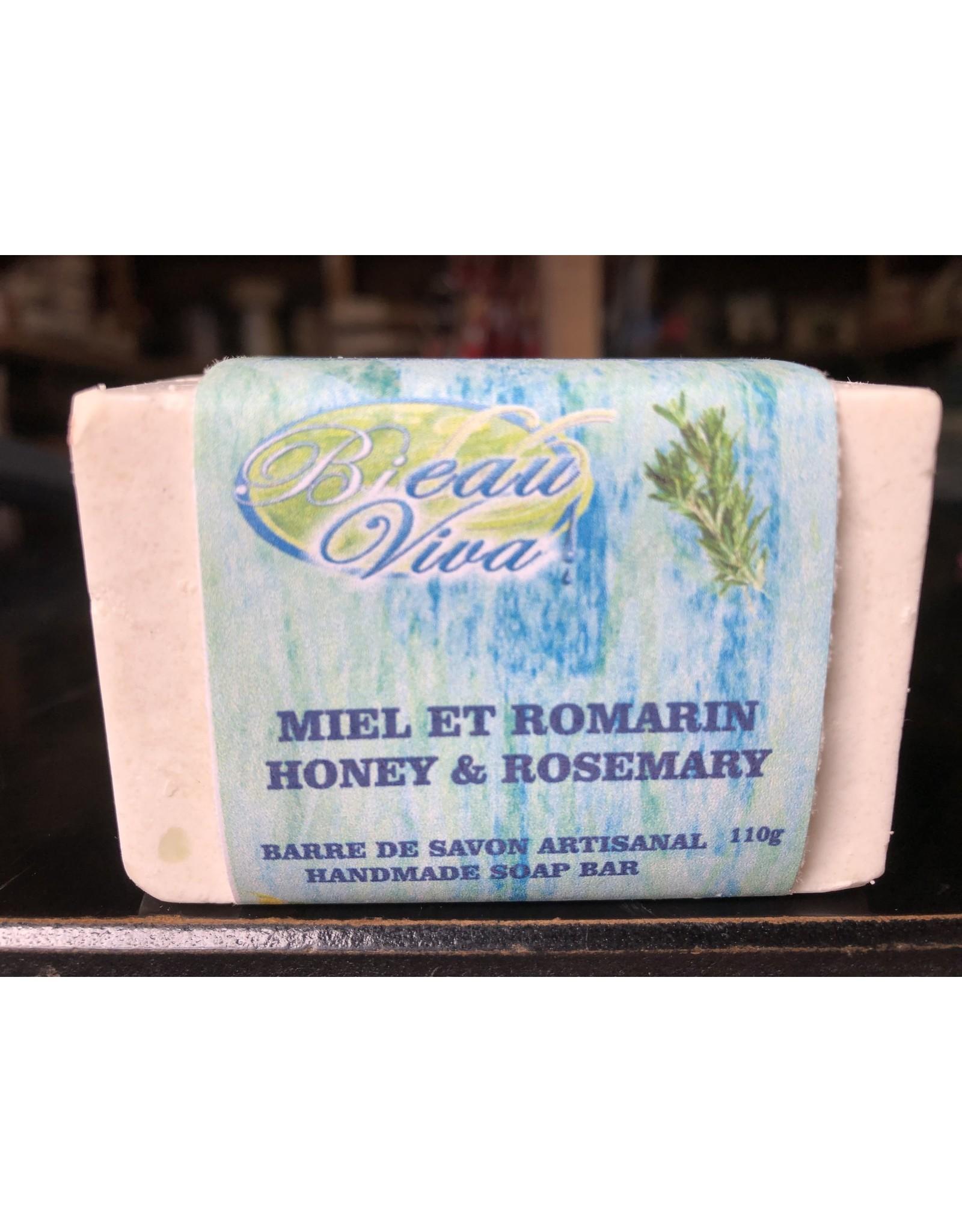 Bieau Viva Savon en barre, miel et Romarin, 110 g