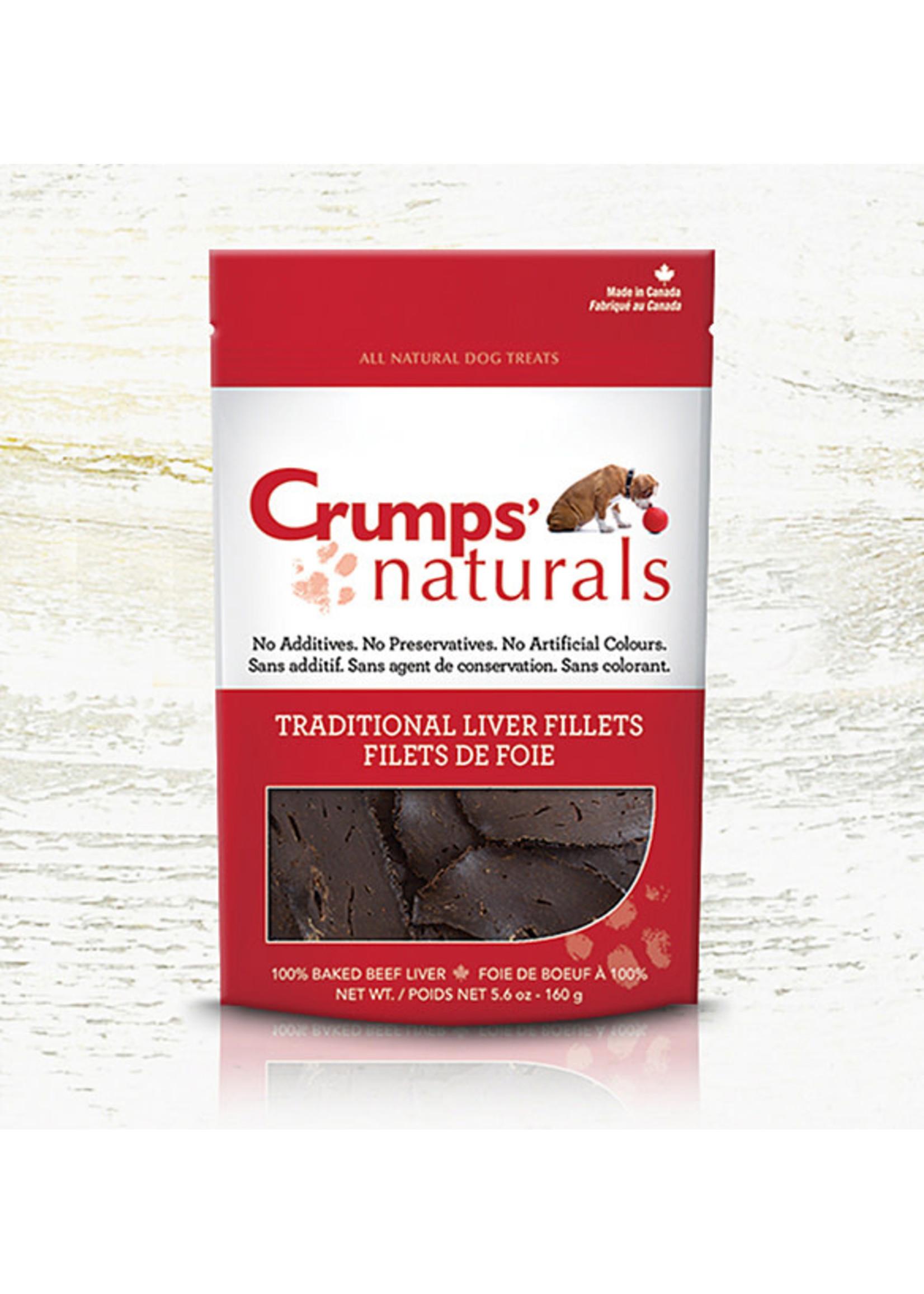Crumps Crumps Chien filets de foie de boeuf cuits 11.6 oz