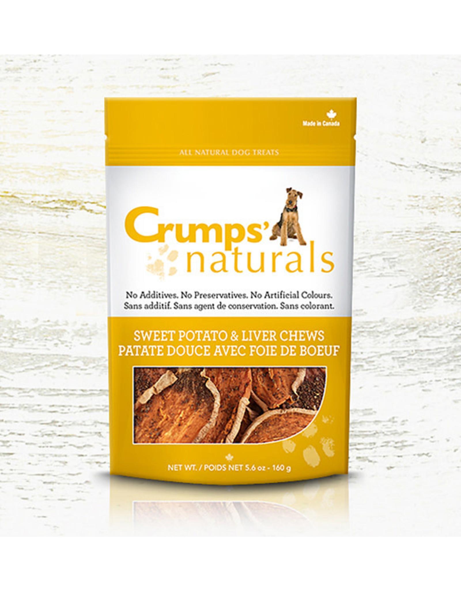 Crumps Crumps chien bouchées de patates douces et de foie (croustilles) 5.6 oz
