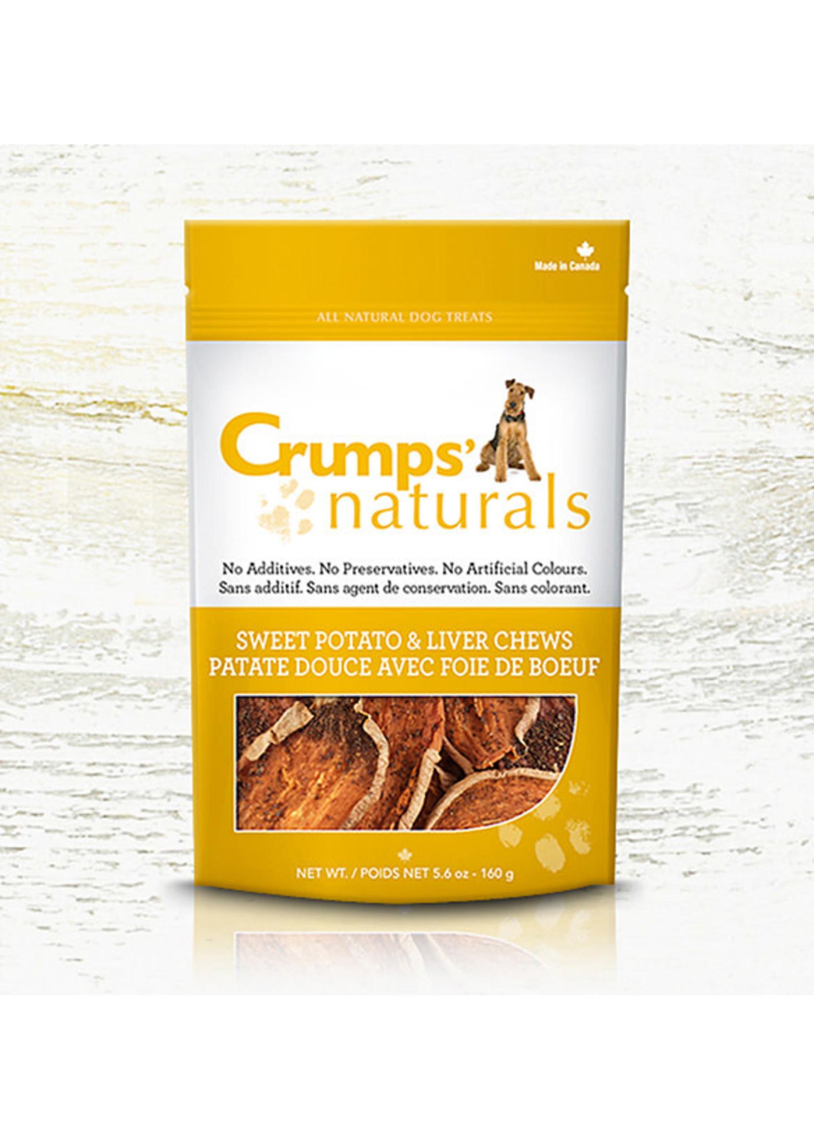 Crumps Crumps chien bouchées de patates douces et de foie (croustilles) 11.6oz
