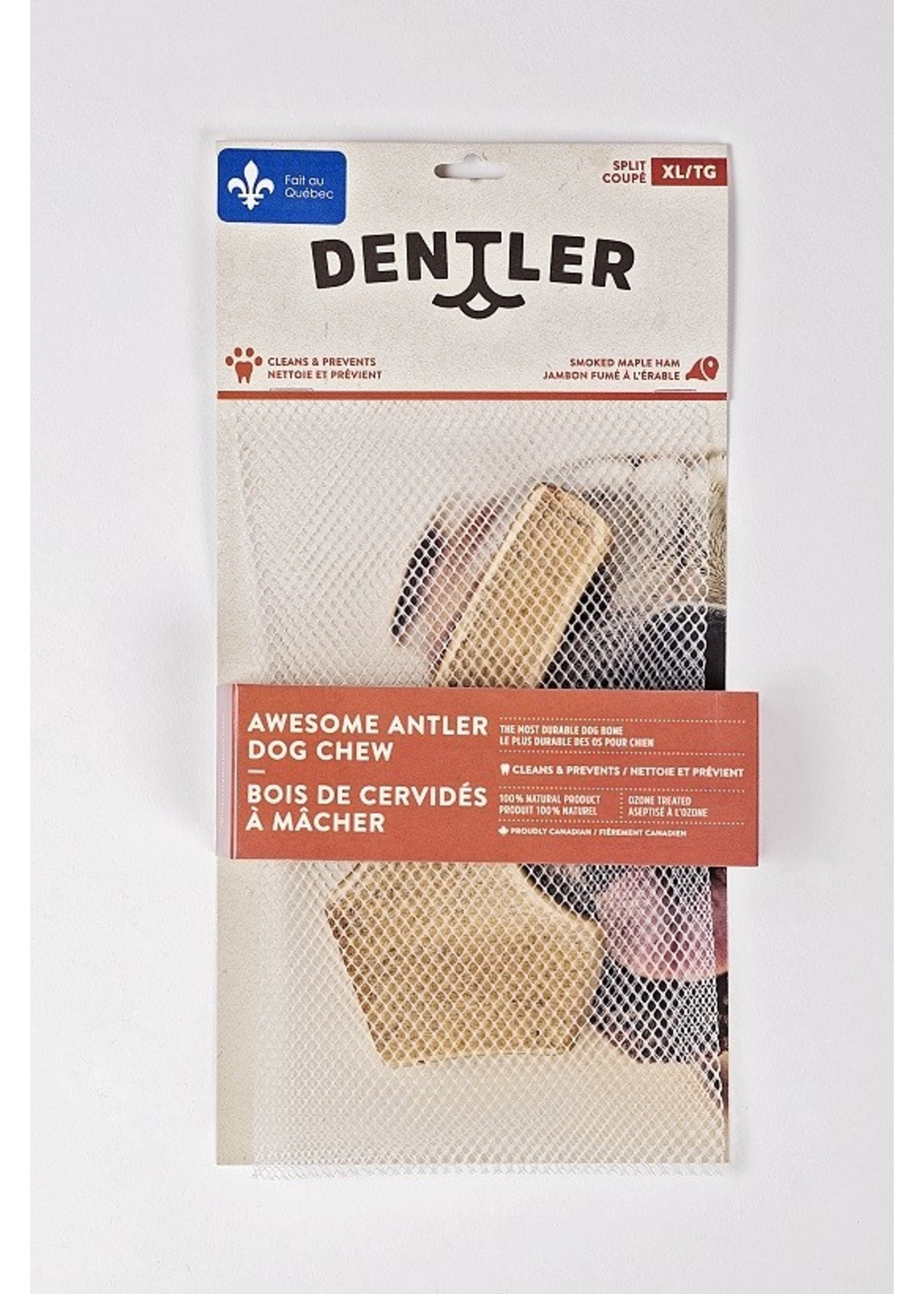 dentler Dentler Bois cervidés split jambon érable X-grand