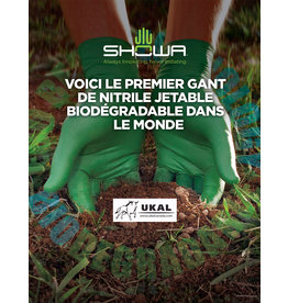 Showa Gants Biodégradables verts 4 mil Xlarge