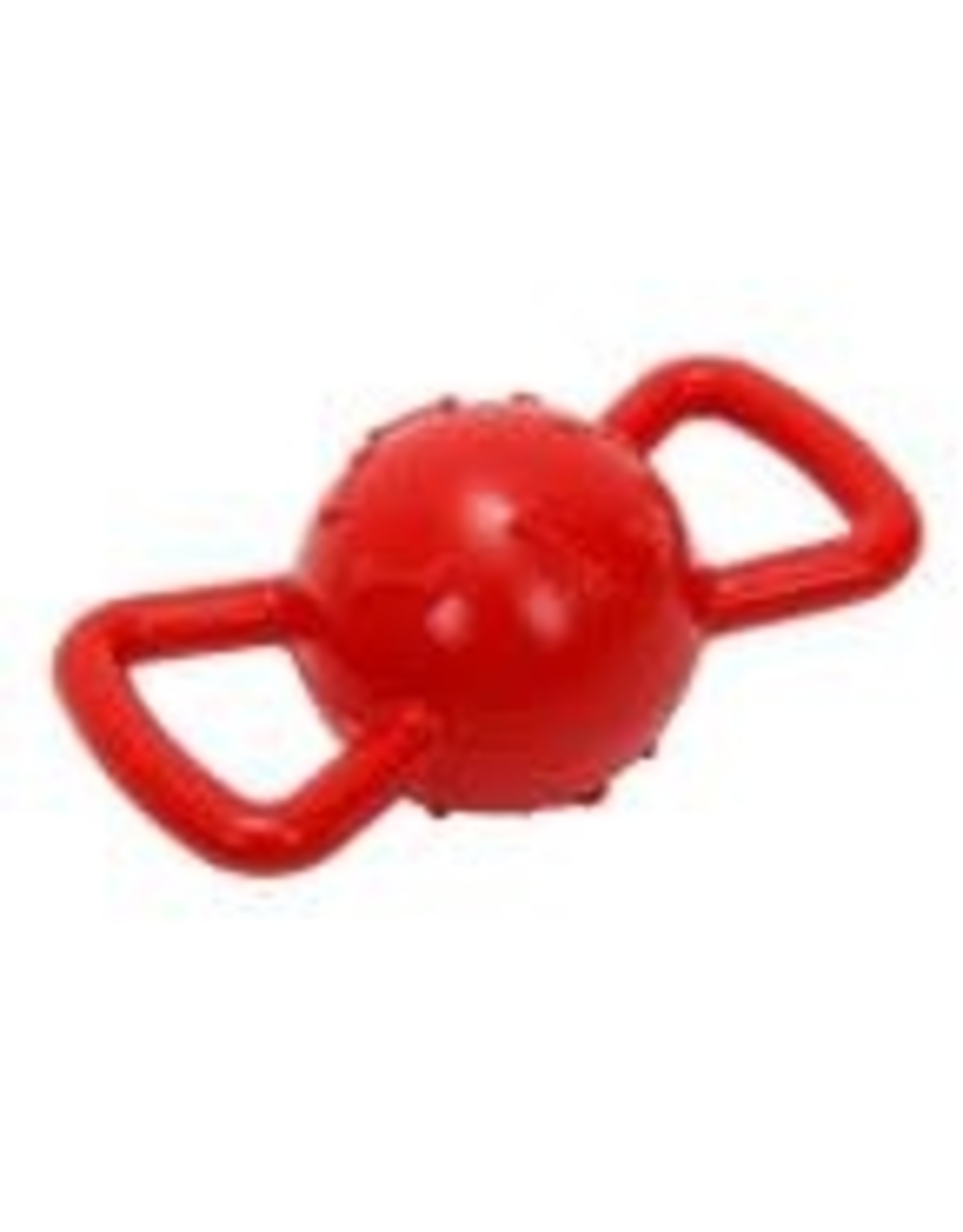 Alltech Bud'z chien jouet coutchouc balle avec poignees 3.5'' rouge