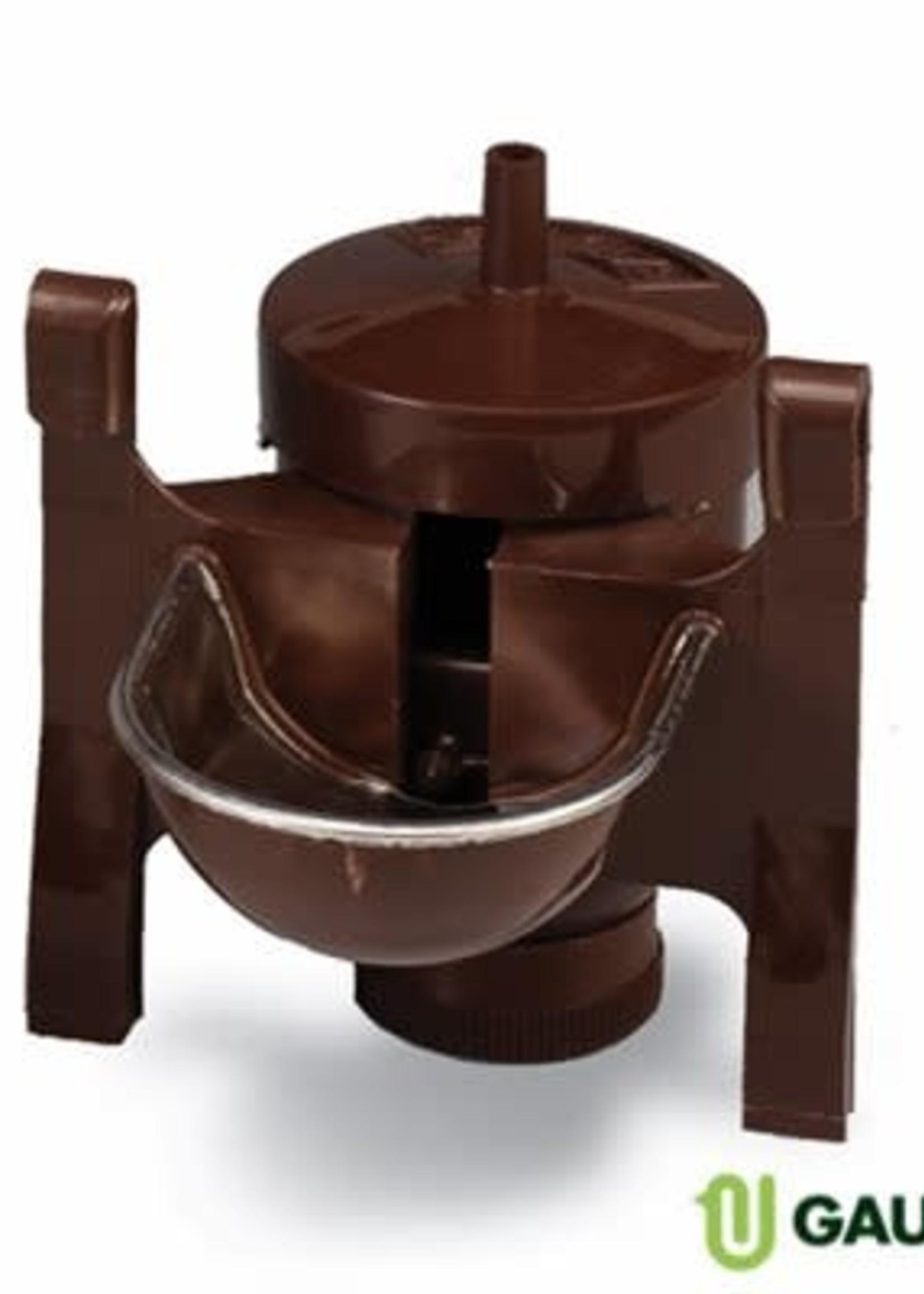 Gaun Abreuvoir automatique seul, coupelle, inox & plast. brun