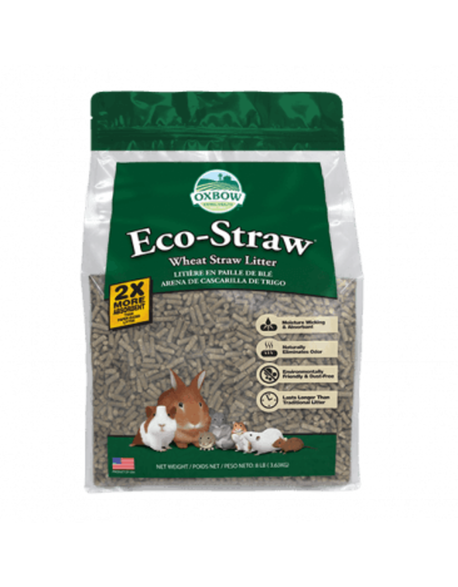 Oxbow Oxbow rongeur litiere Eco-straw granules de blé 20 lbs