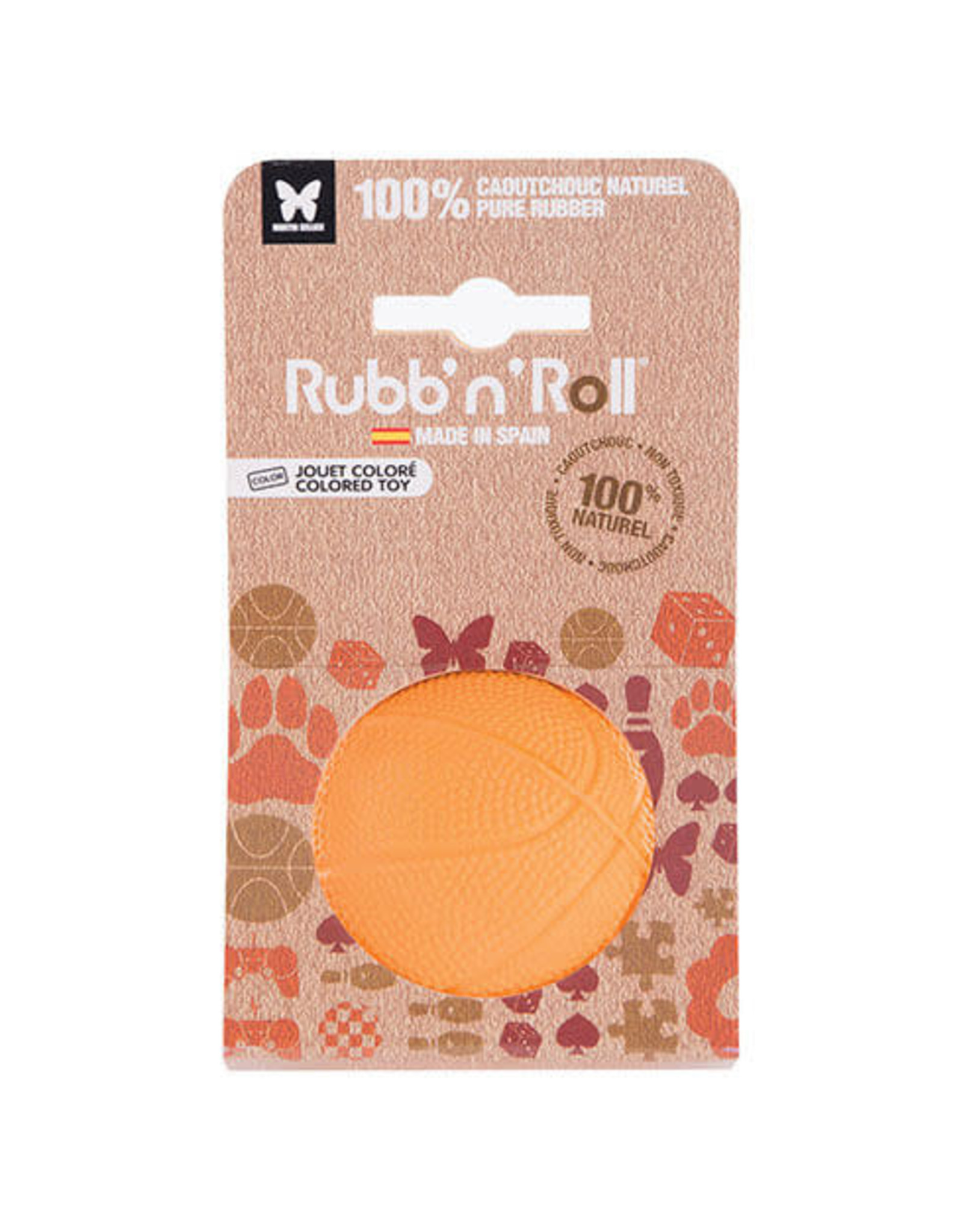 Rubb'n roll Rubb N Roll jouet balle large orange