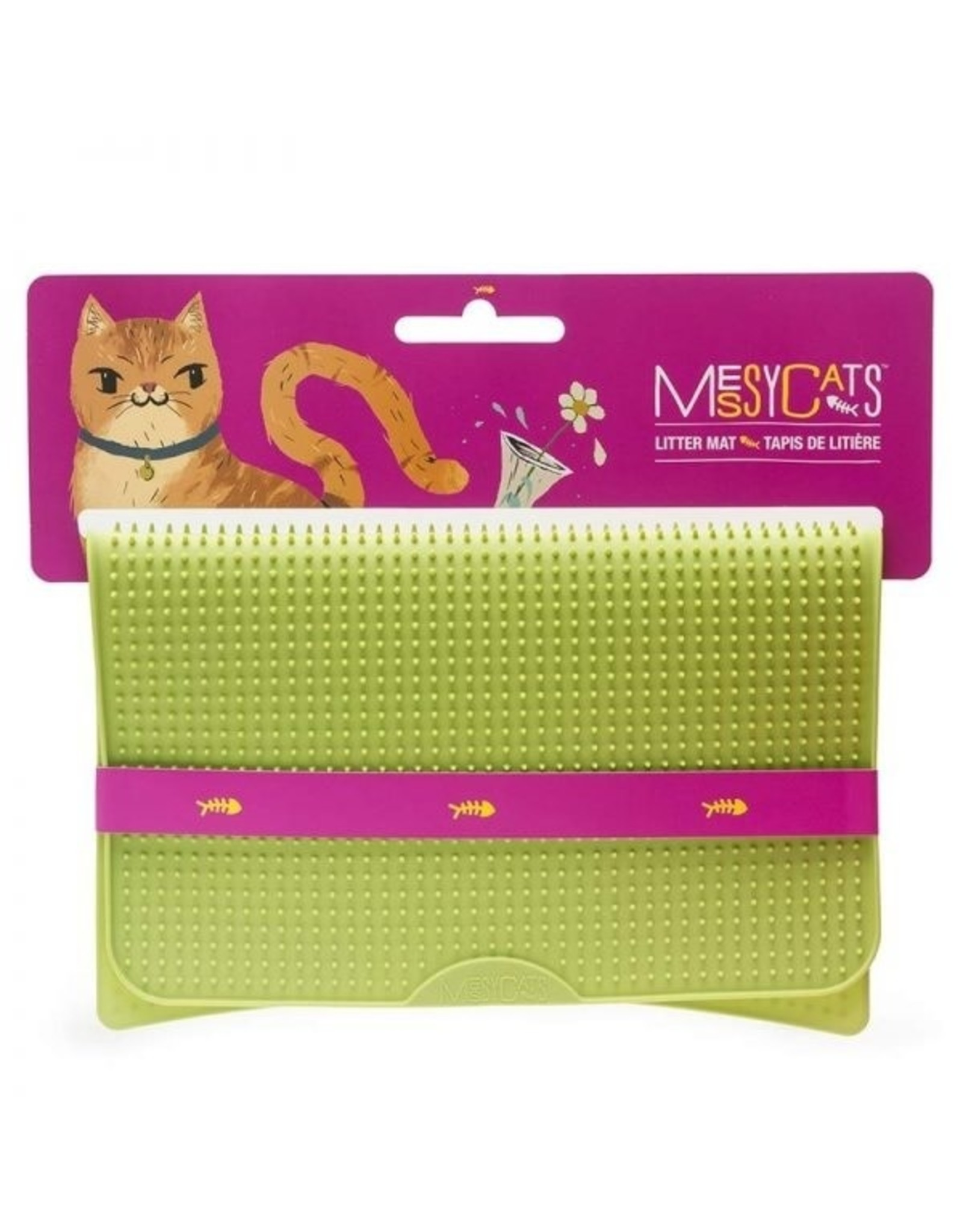 Messy Cats MESSY CATS tapis litiere silicone, vert