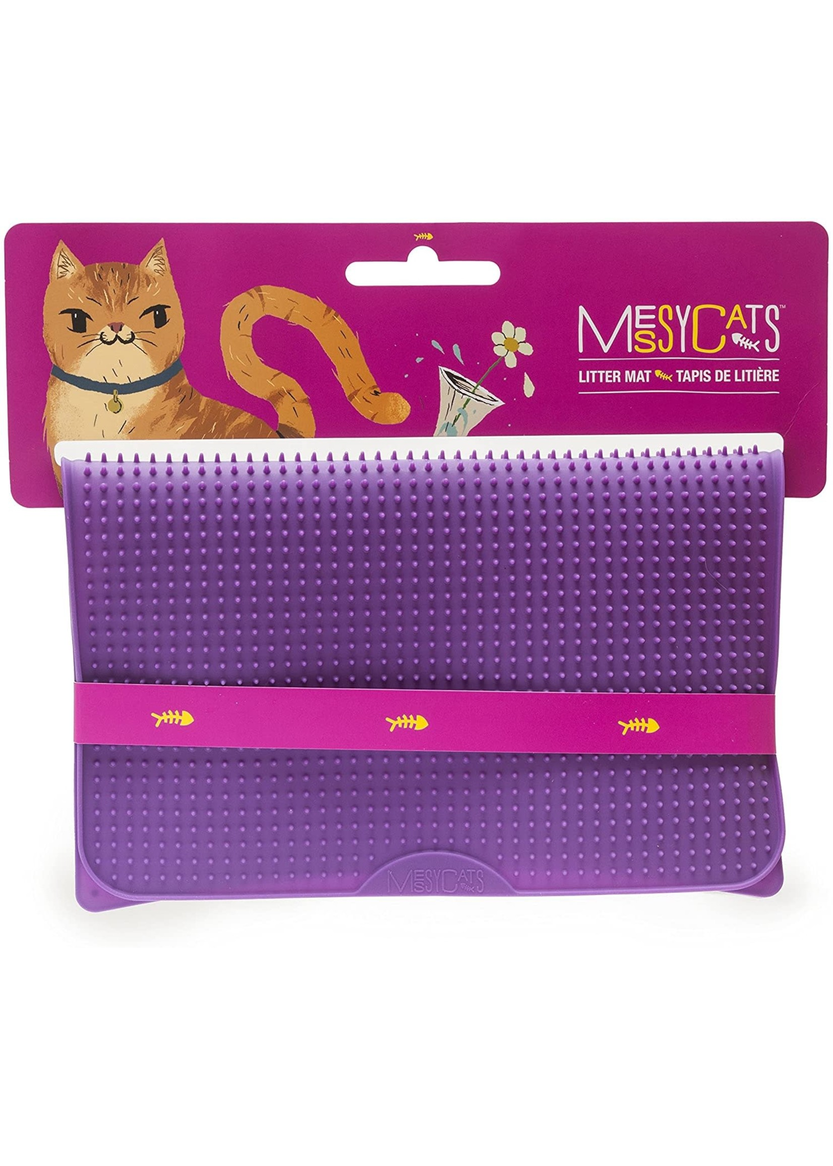 Messy Cats MESSY CATS tapis litiere silicone, mauve