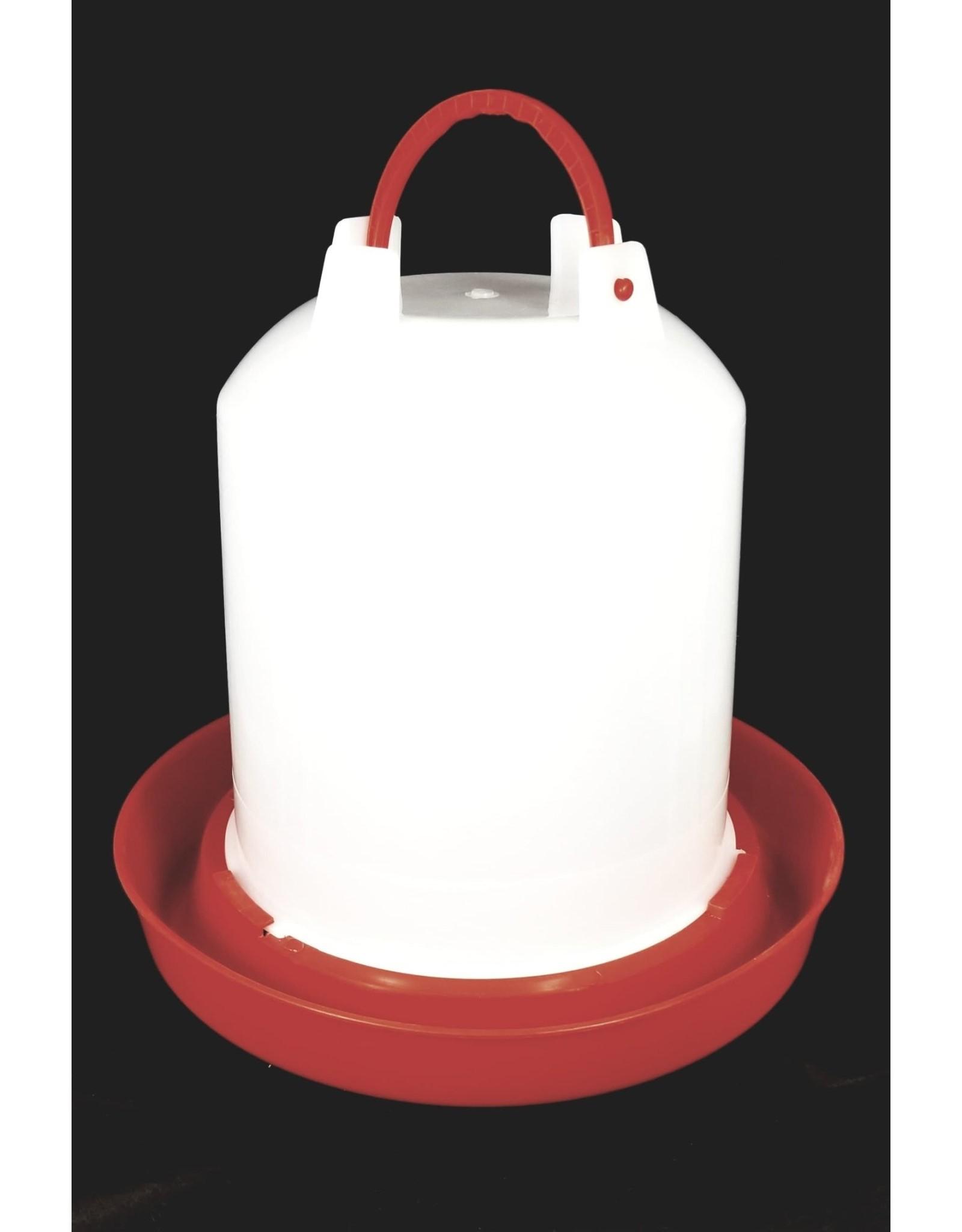 Ma poule express Abreuvoir 11 litres blanche et rouge, PE