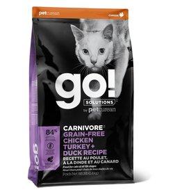 Pet curean PETCUREAN GO! chat carnivore sans grains poulet, dinde + canard 8 lbs