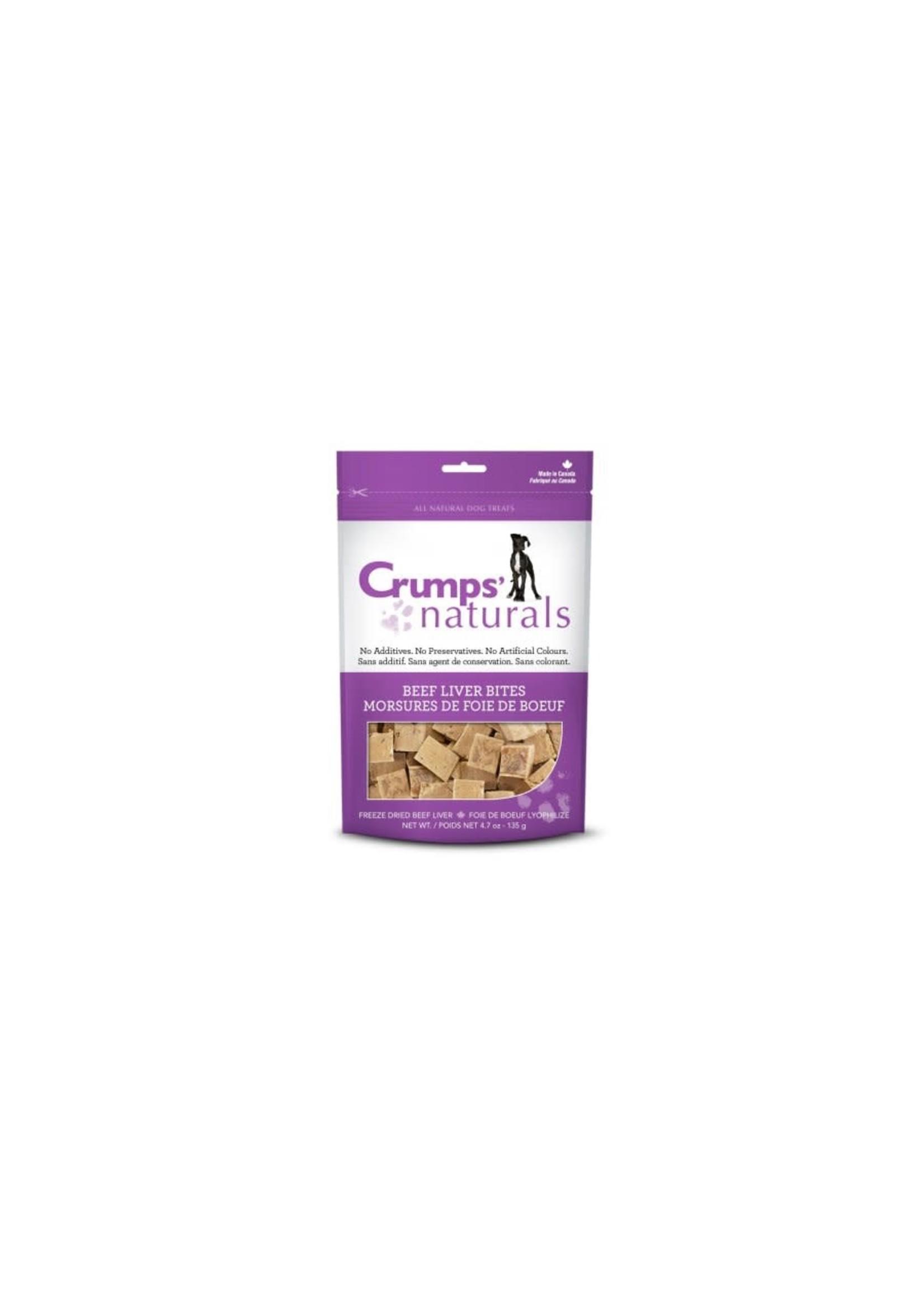 Crumps Crumps chien bouchées de foie de boeuf lyophilisées 4.8 oz