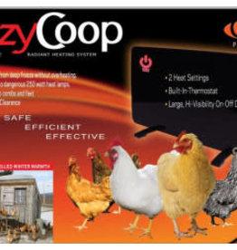 Cozy Coop Cozy Coop, 250 watts, 2 intensités, PE
