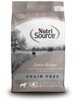 NutriSource NS chien senior sans grains contrôle de poids  2.3 kg