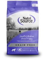 Nutri-Source NS chiot sans grain, pet/moy race, 15 lbs, 6.8 kg