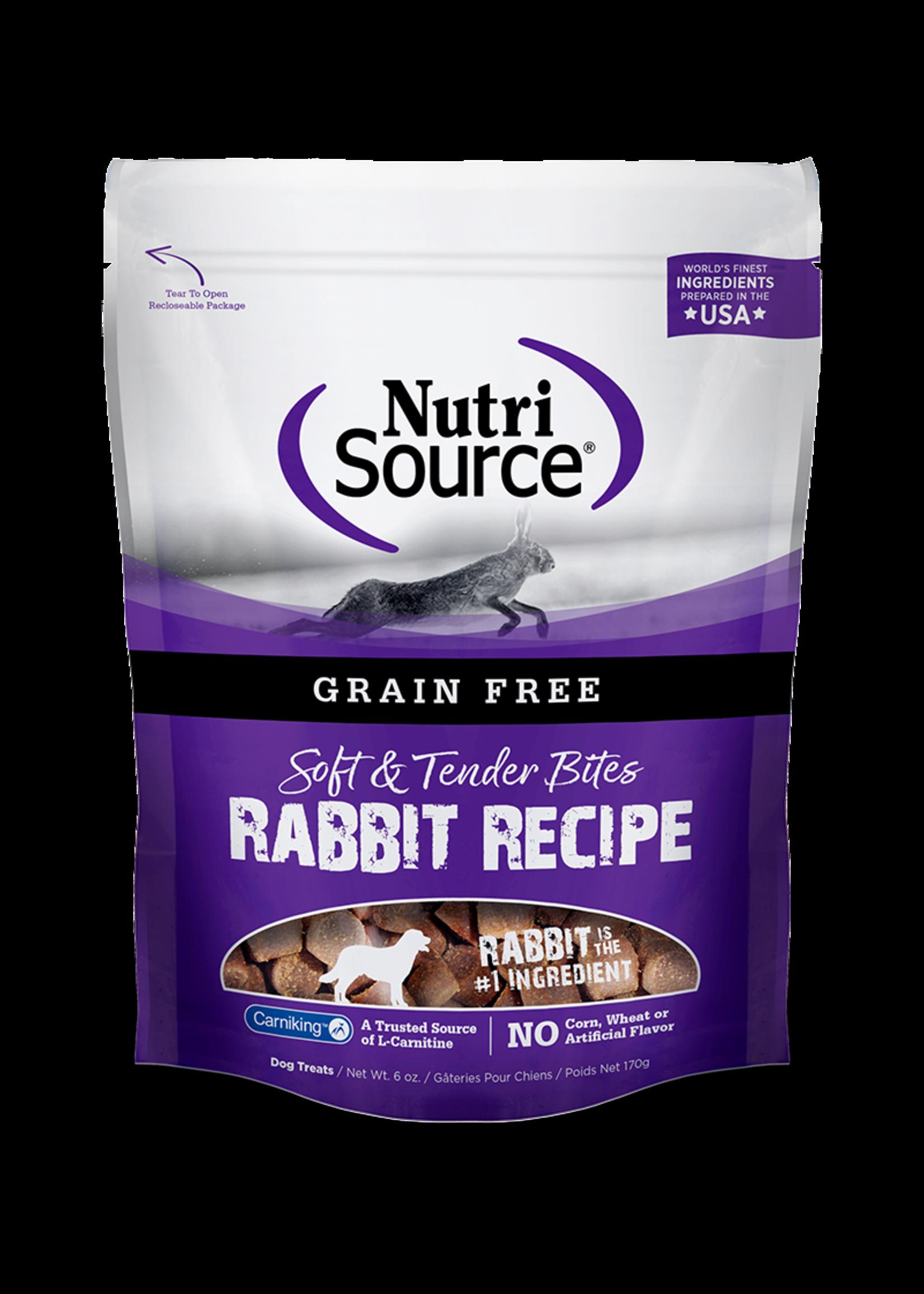 Nutri-Source NS Tendre bouchée SG Lapin 179 g/6 oz