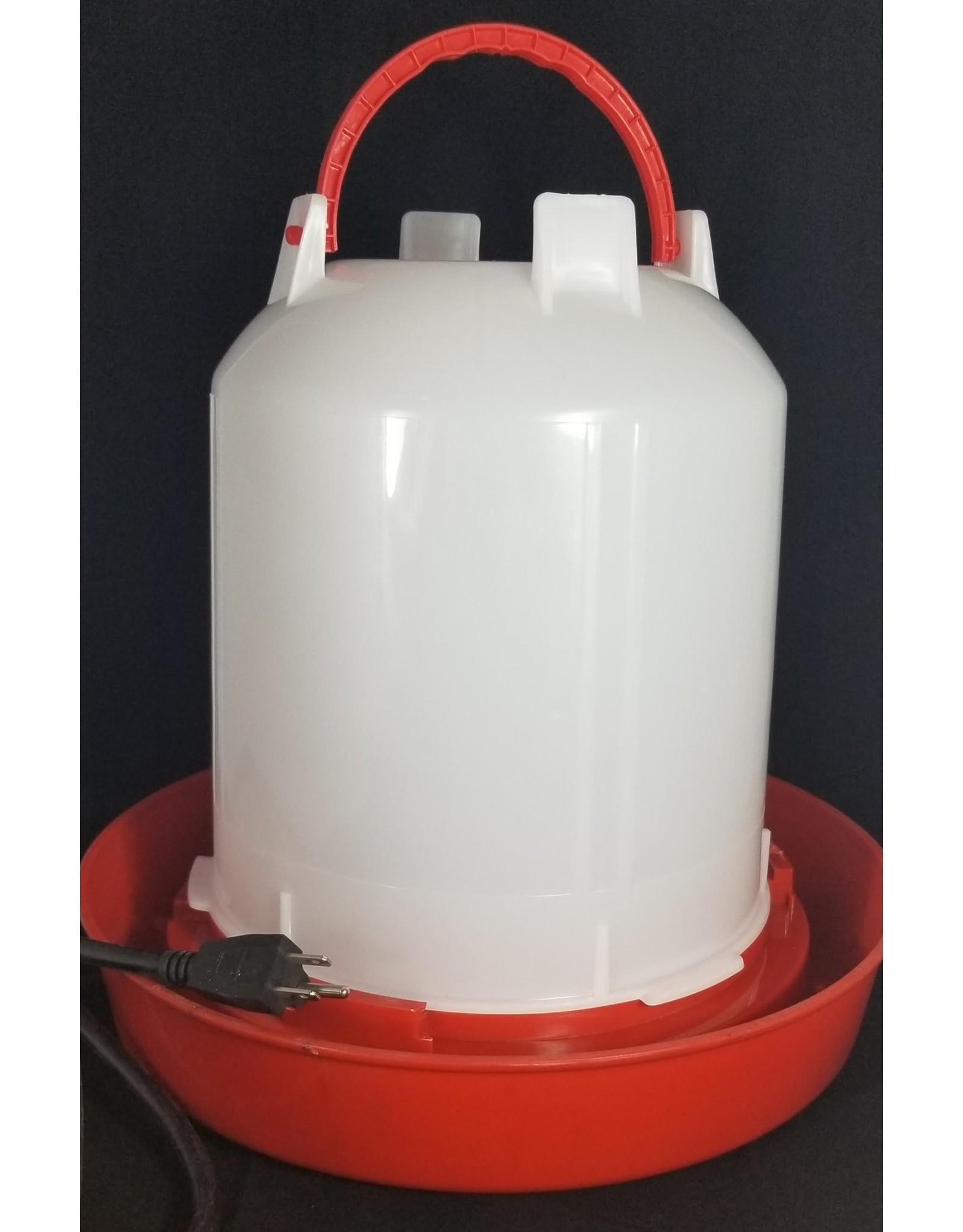 Ma poule express Abreuvoir chauffant blanche et rouge 11 litres, PE