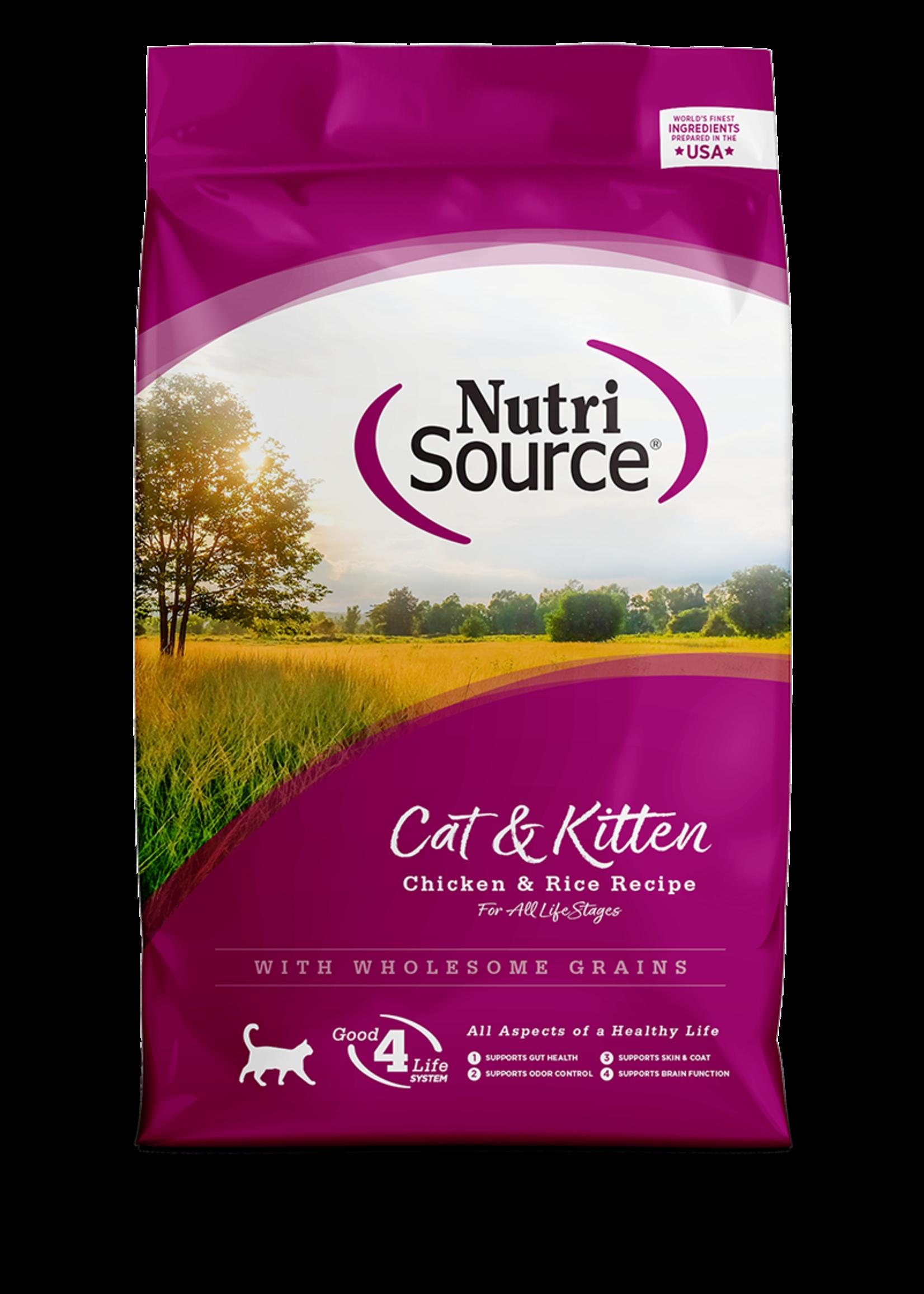 Nutri-Source NS chat , poulet et riz 6.6 lbs