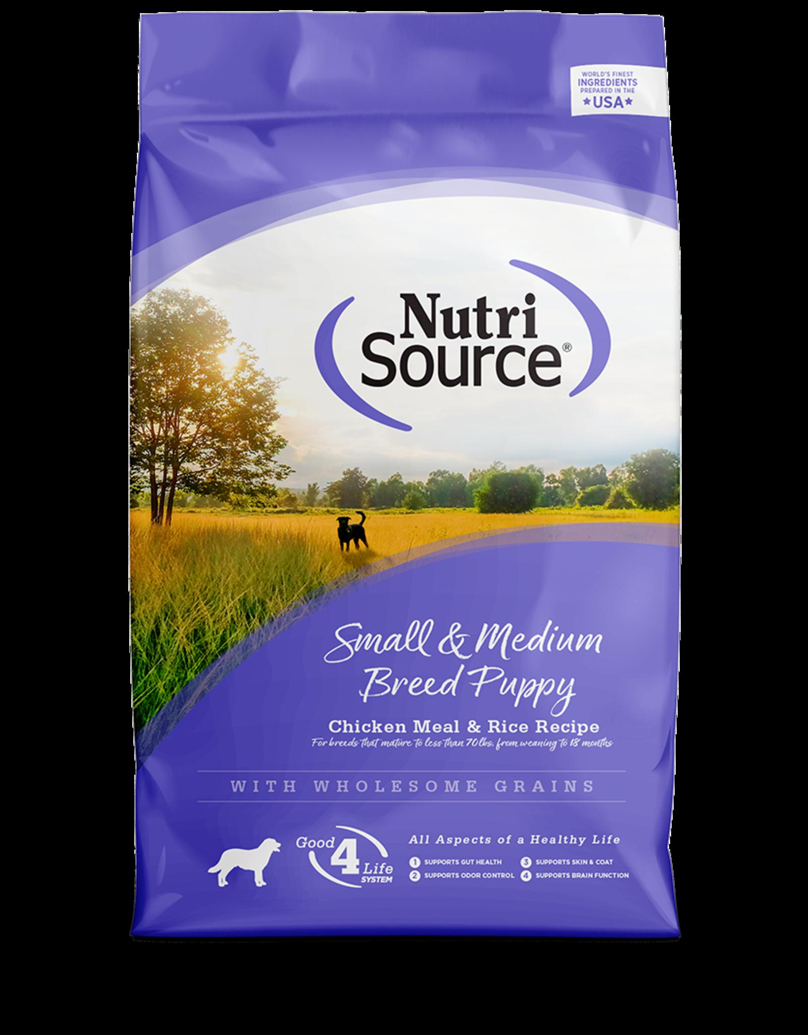 Nutri-Source Nutrisource chiot Petite/moyenne race poulet & riz 15 lbs