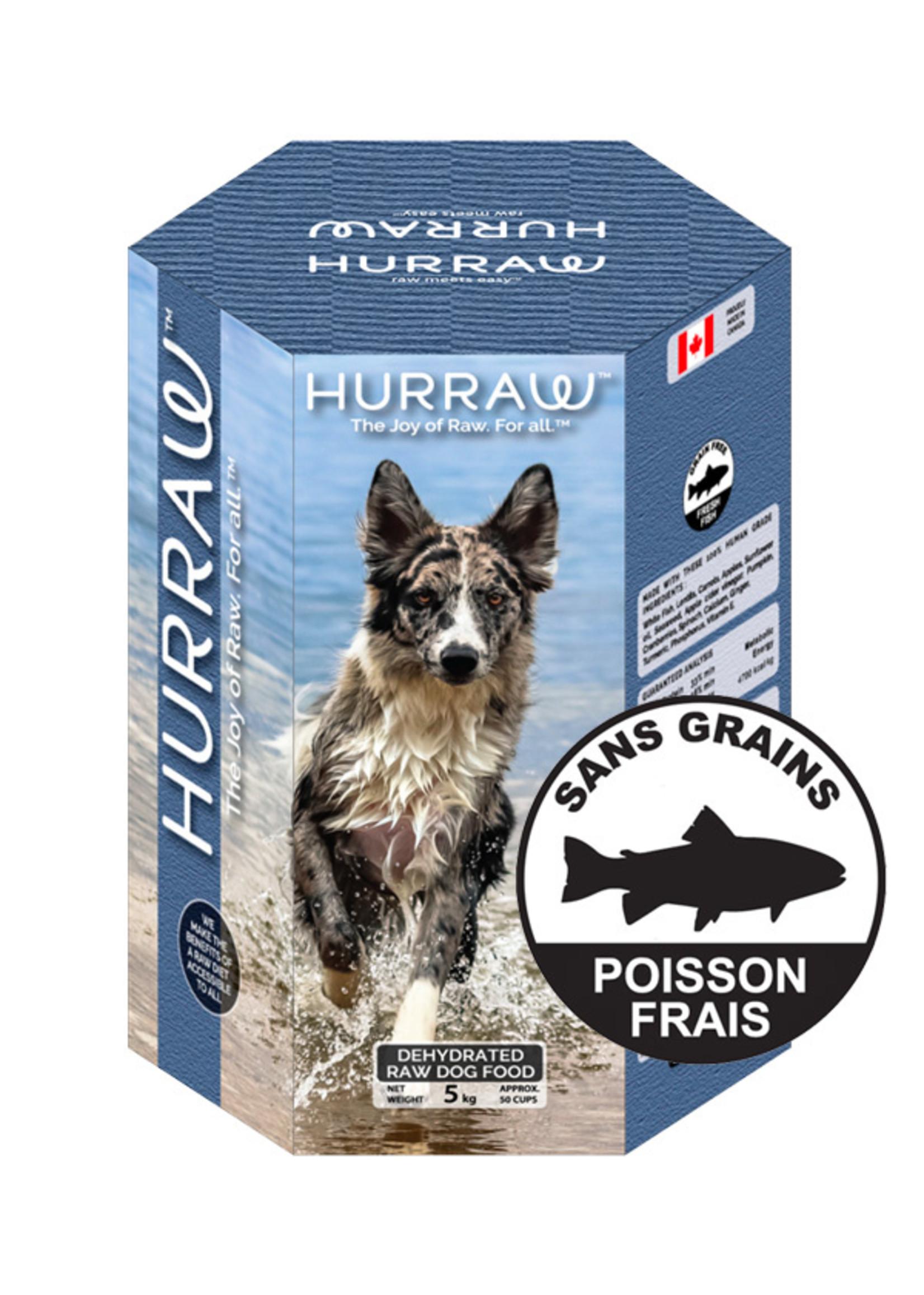 Hurraw Hurraw - Nourriture crue déshydratée pour chiens - Poisson frais 10Kg
