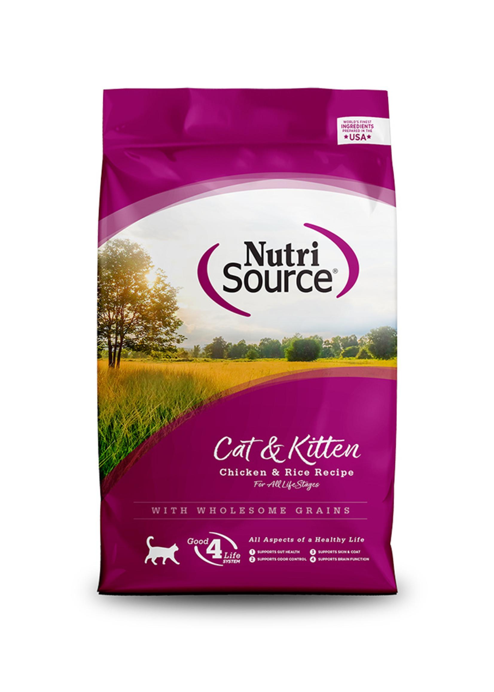 Nutri-Source NutriSource - Nourriture sèche pour chat au poulet et au riz, 16 lbs