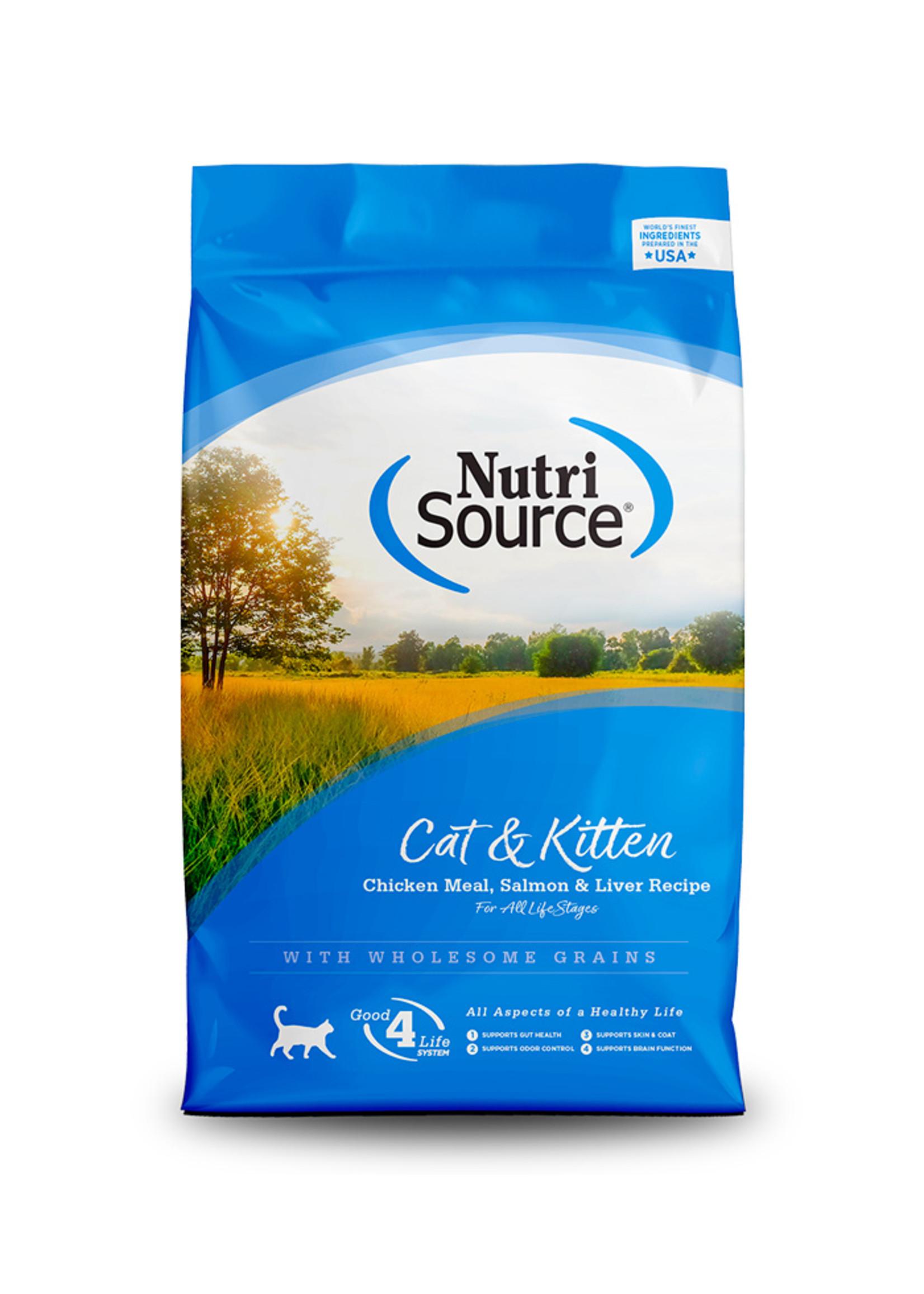 NutriSource NutriSource - Chats & chatons au poulet /saumon/foie, 7.25 kg