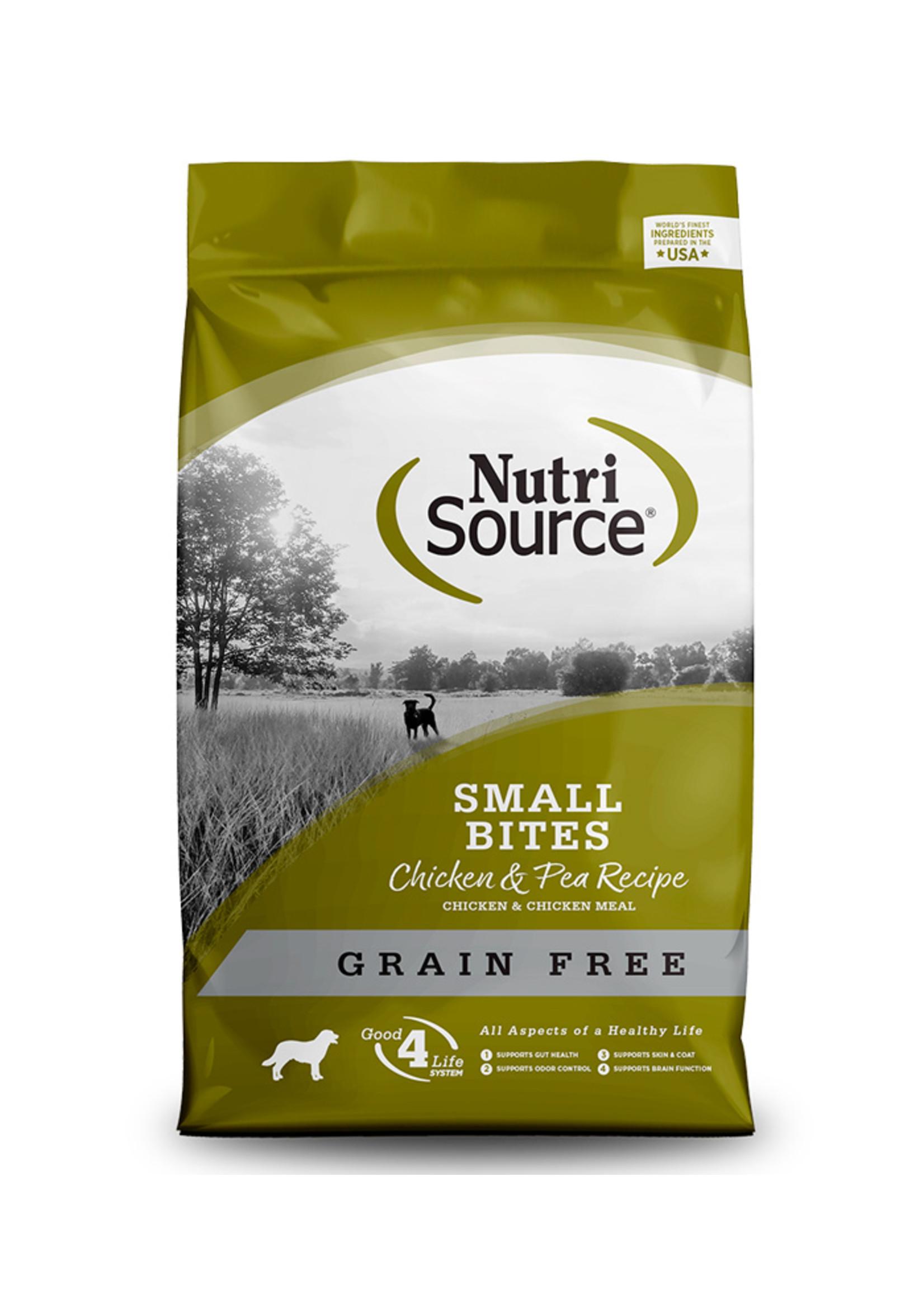 Nutri-Source NutriSource - Nourriture sans grain pour petits chiens au poulet et au pois, 15lbs