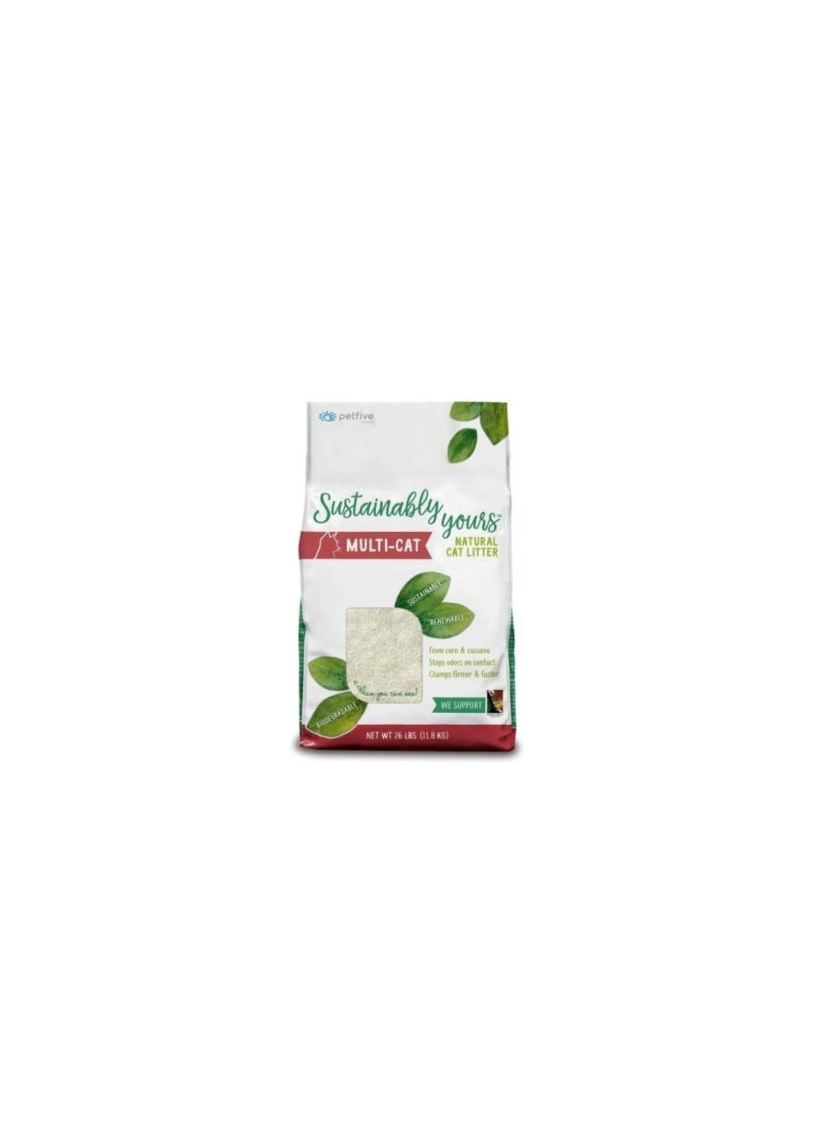 Sustainably yours Sustainably yours litiere agglomérante biodégradable multi-cat 26 lbs