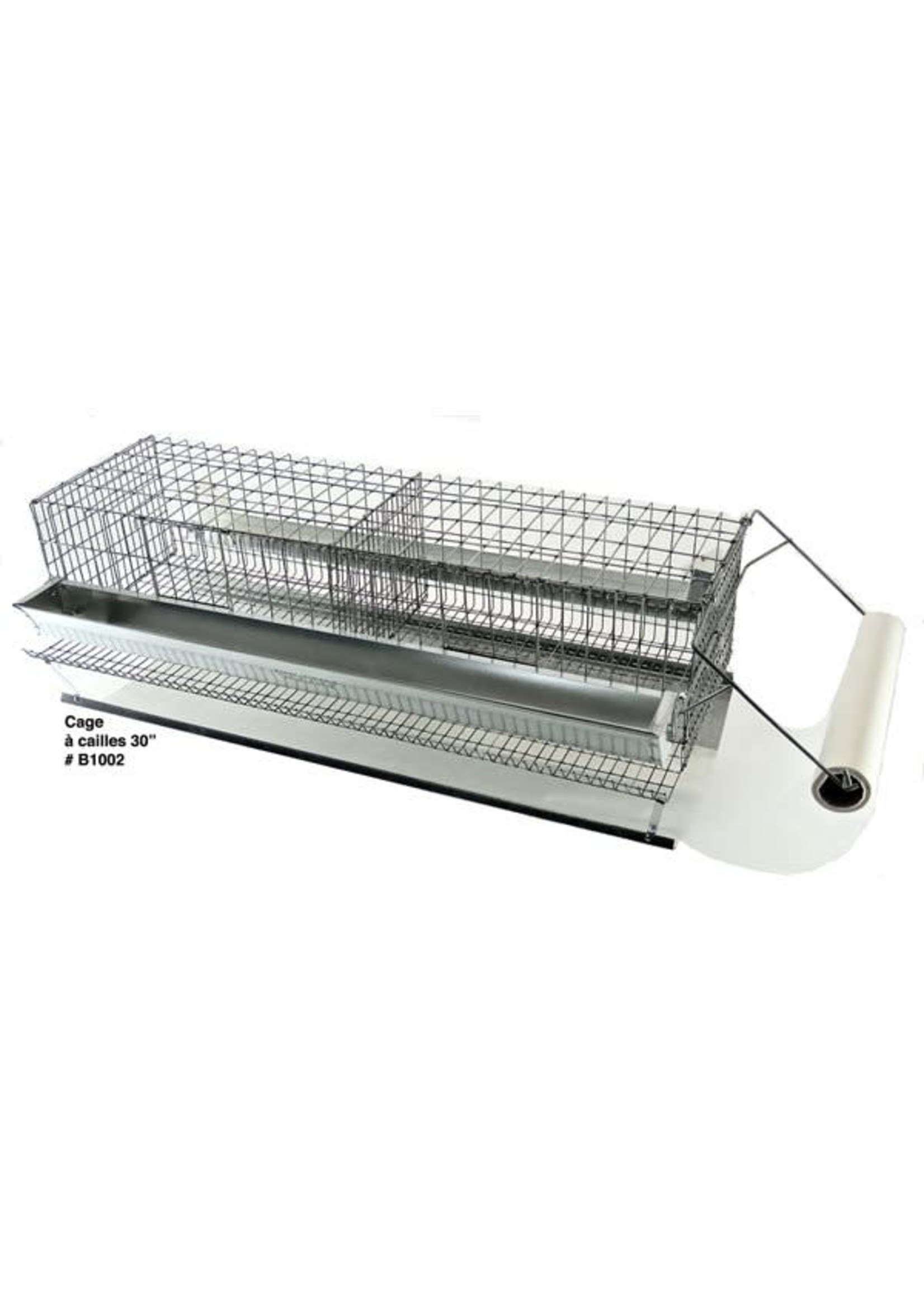 Ranch cunicole 2 cages a cailles 15 X9 X 7