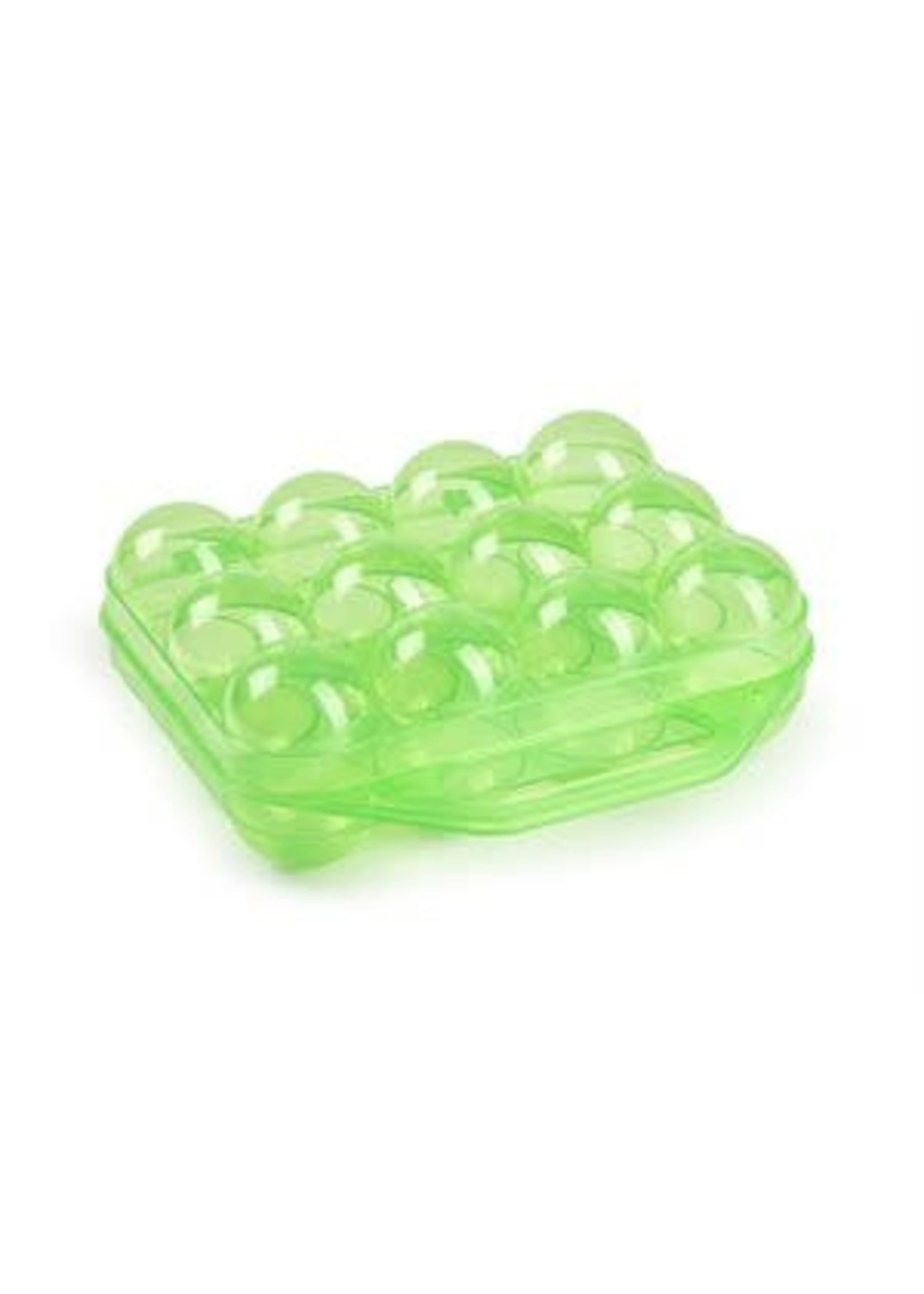 Gaun Contenant pour 12 Oeufs en plastique vert
