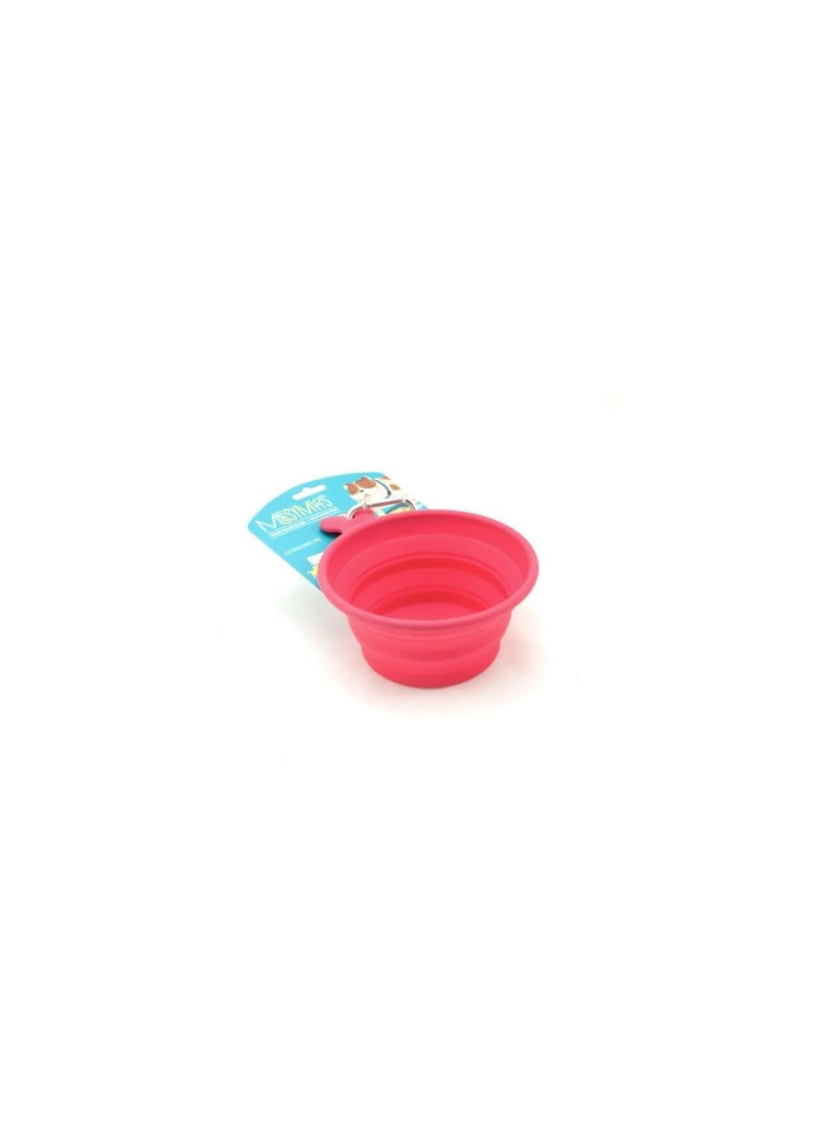 Messy Mutts Messy Mutts Bol en silicone rétractable -moyen, rouge
