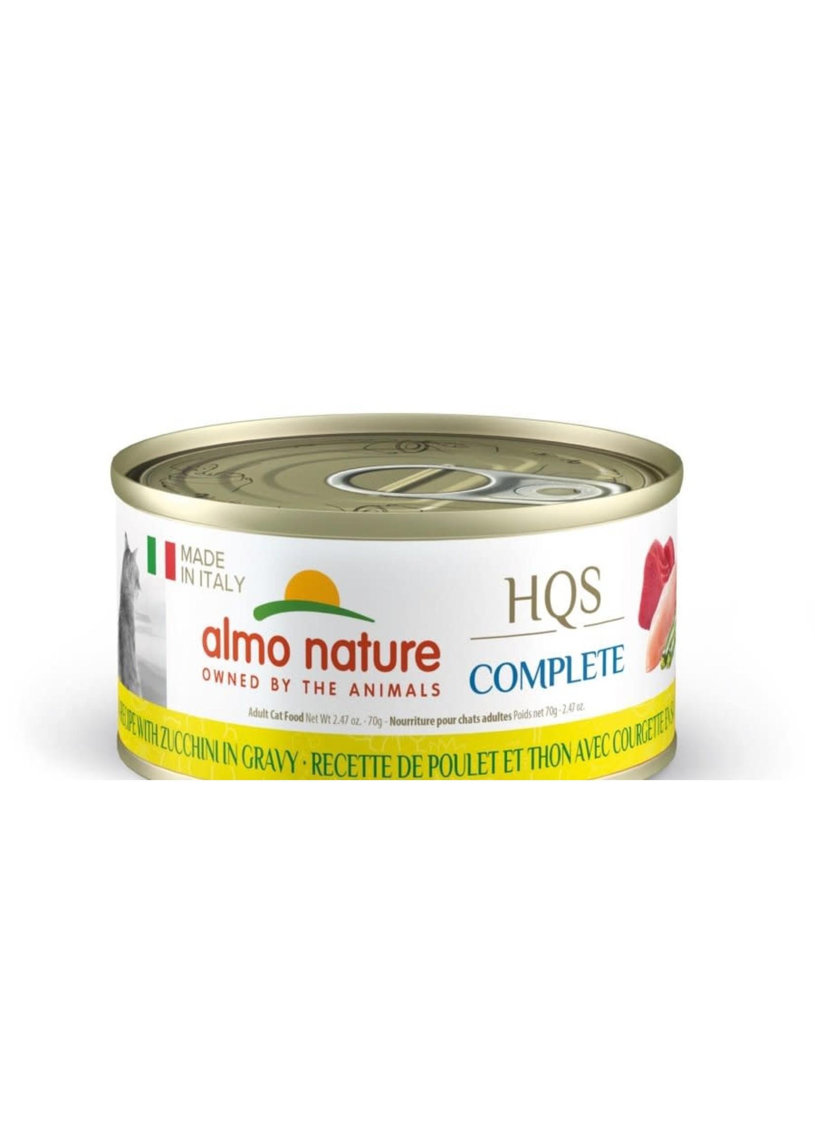 almo nature Almo Nature, Italie HQS complète chat- poulet, thon et courgettes en sauce 70 g