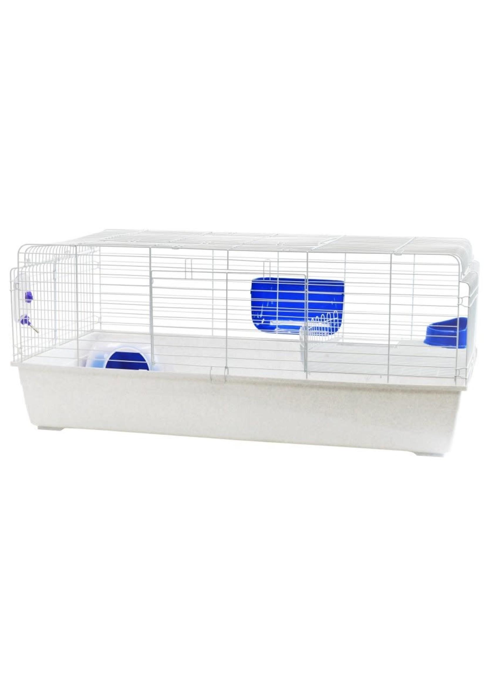 Hamamelis Cage géante Hamamelis pour lapin 150 X 74 X 63 cm (59X29X25'') blanc