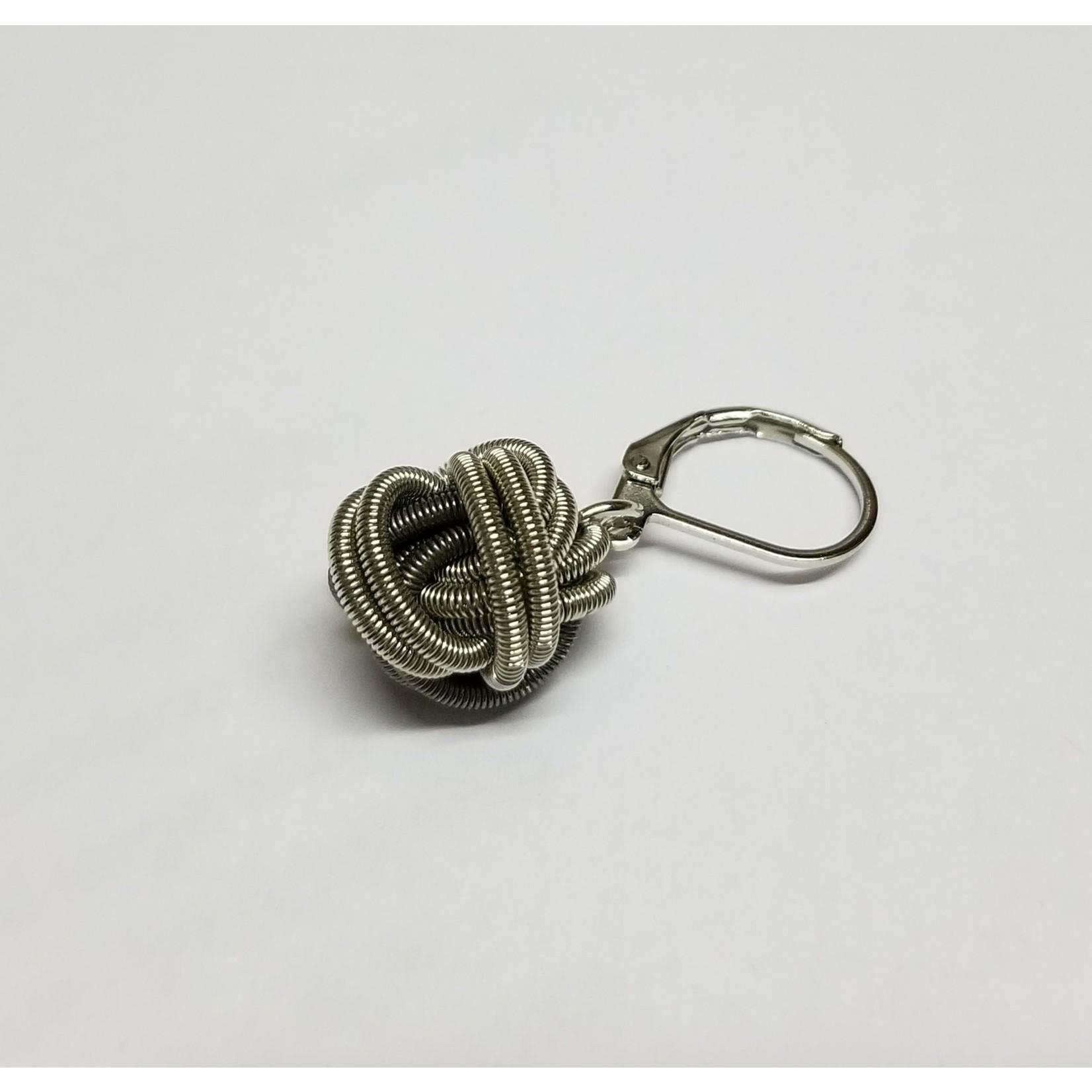 Sea Lily Silver/Slate Piano Wr Knot Earrings